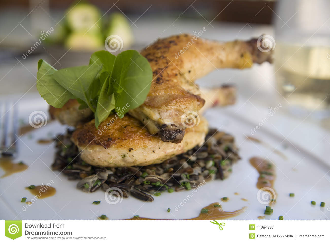 Cornish Game Hen with Wild Rice and Au Jus