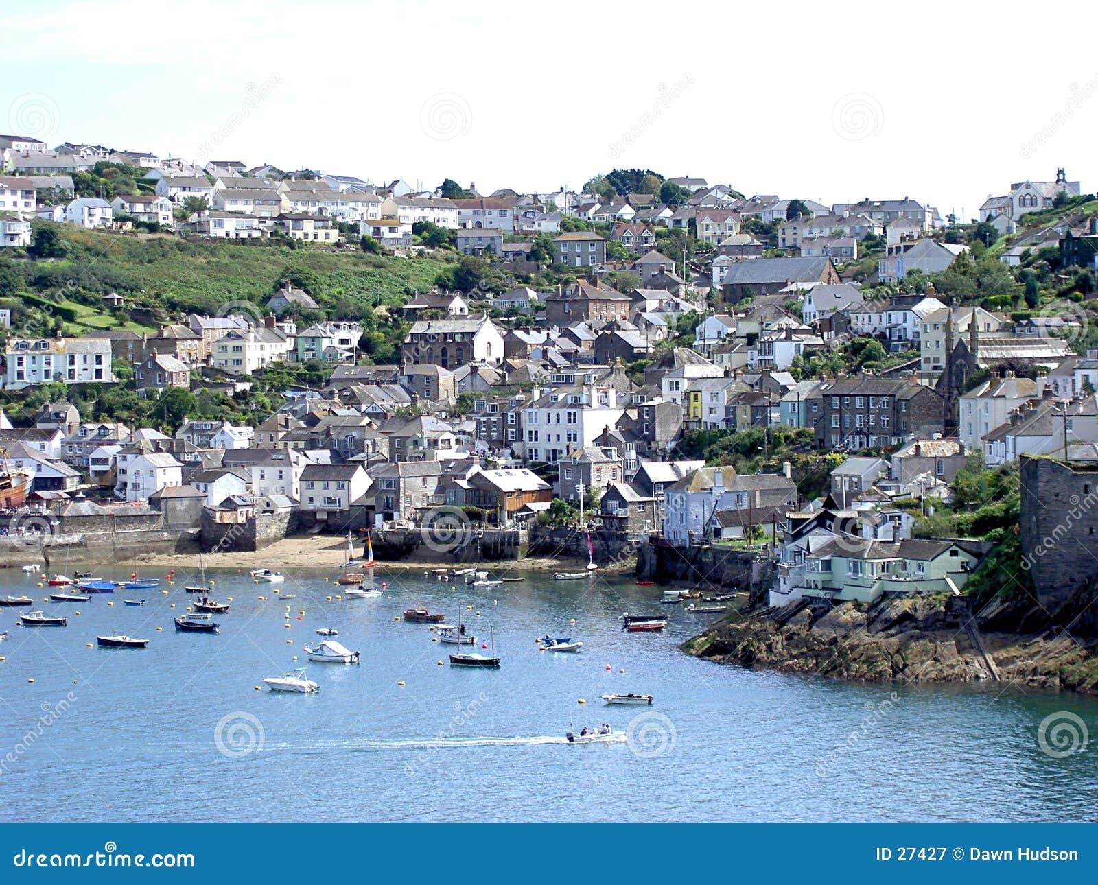Cornish Harbour Scene