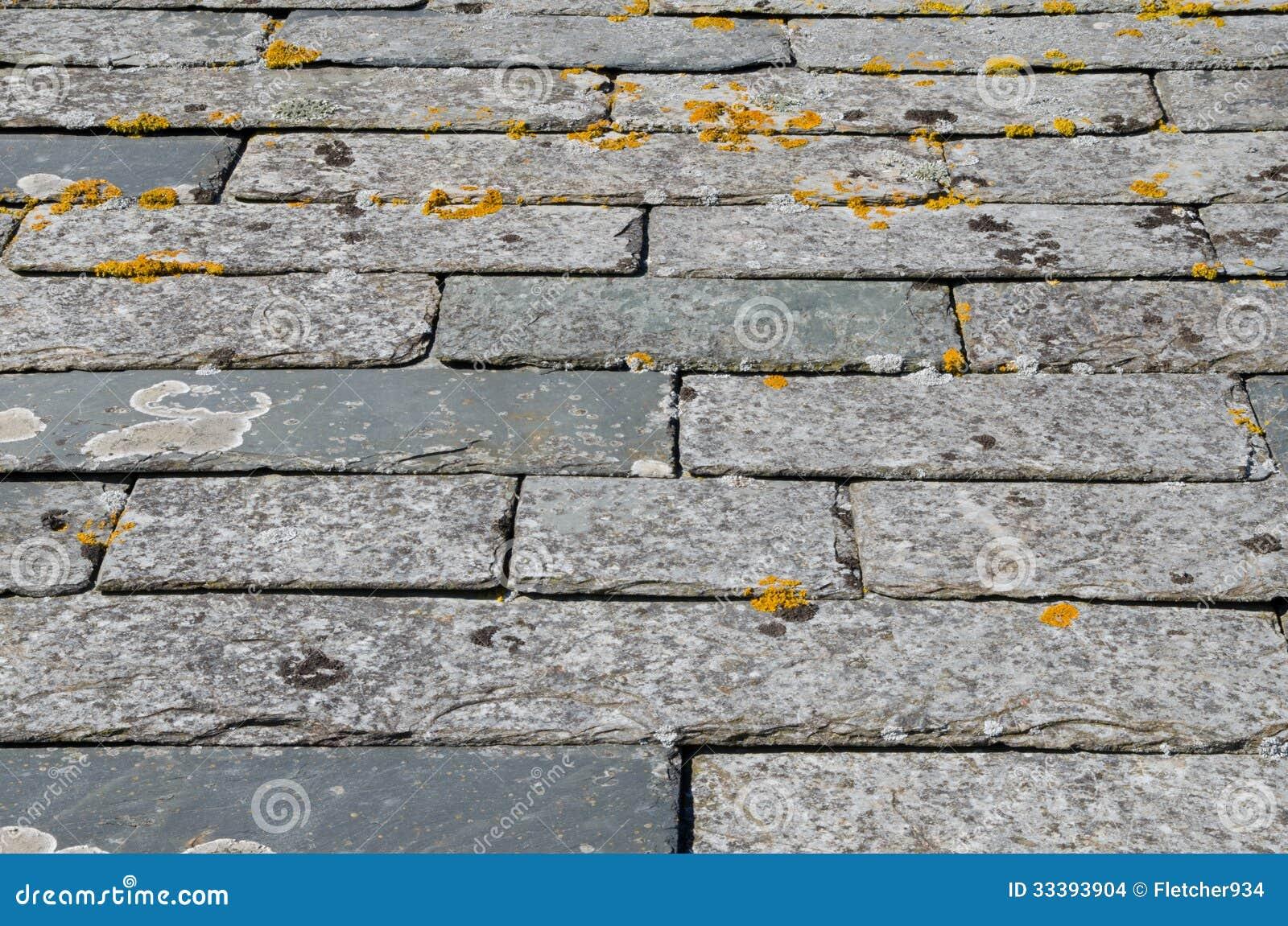 Cornish Slate Roof Tiles Stock Images Image 33393904