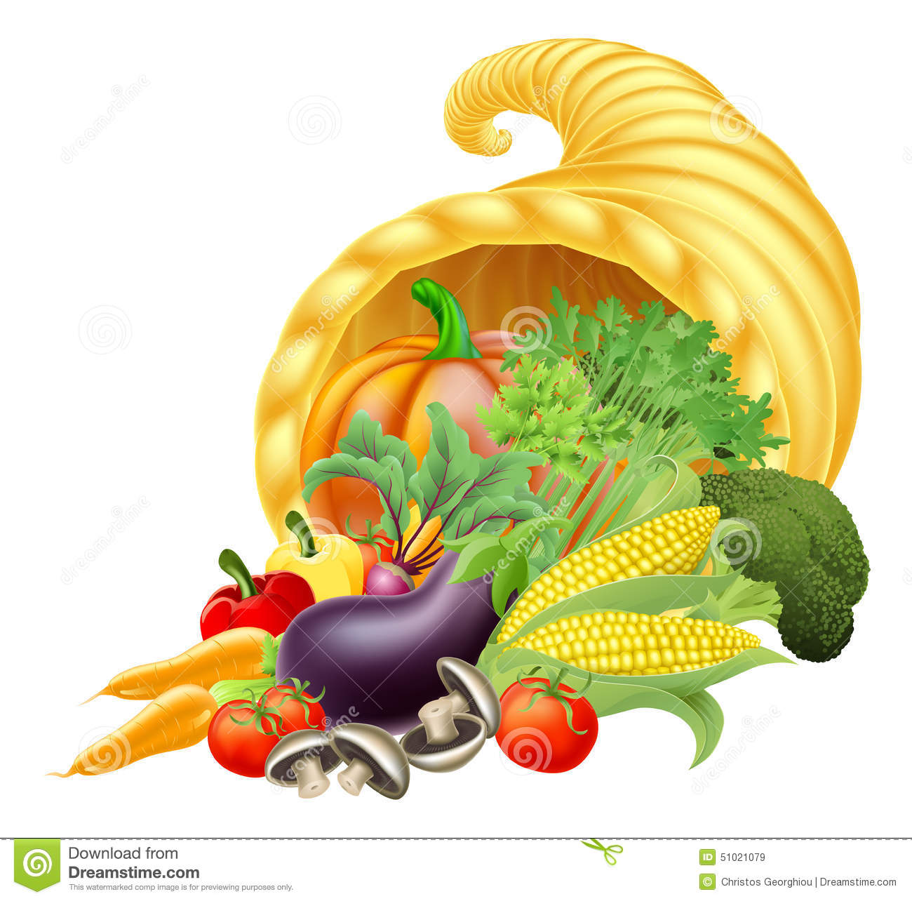cornucopia stock vector illustration of cartoon