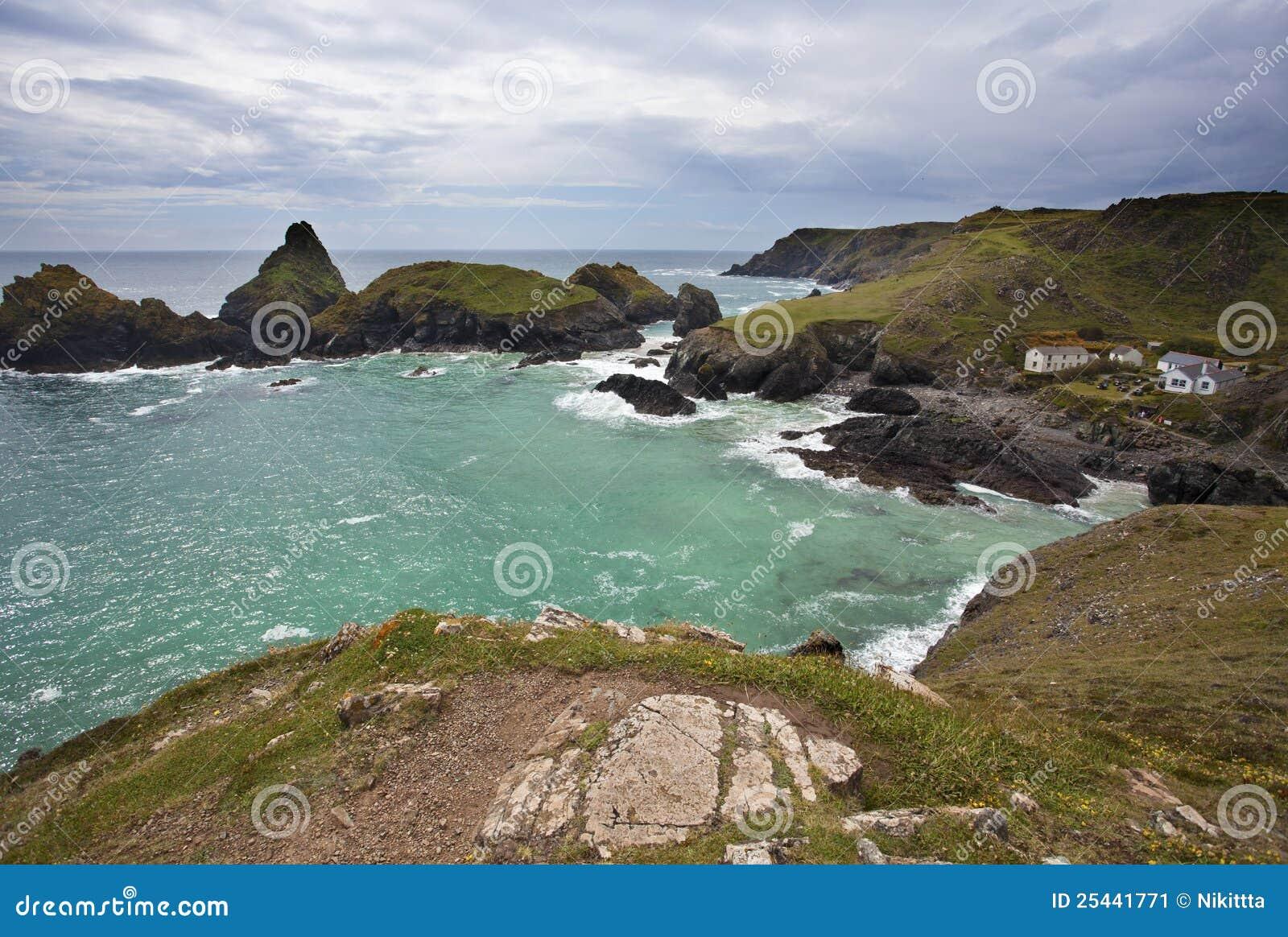 Cornwall zatoczka chujący biżuteryjny kynance
