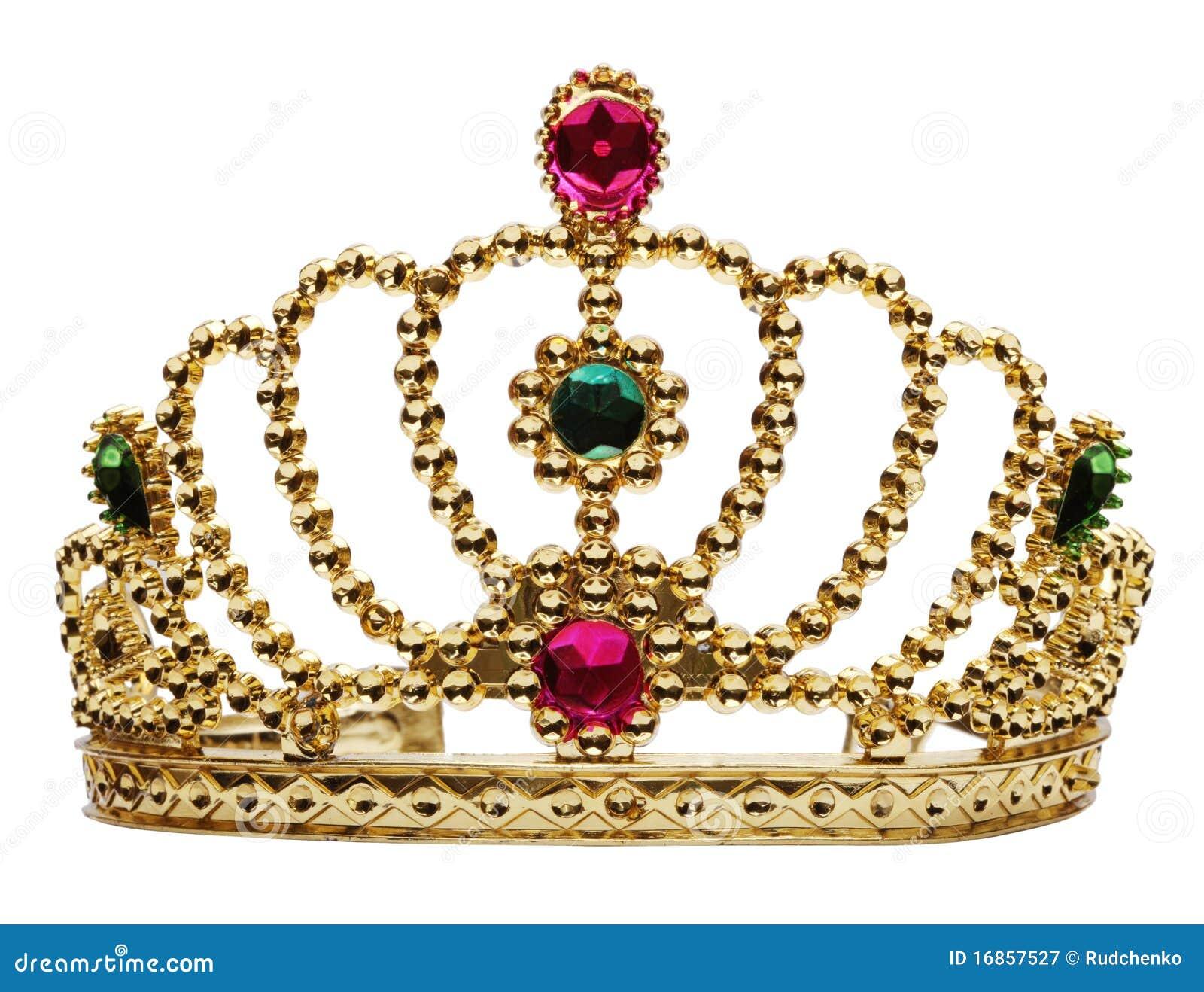 Coroa da princesa isolada no branco