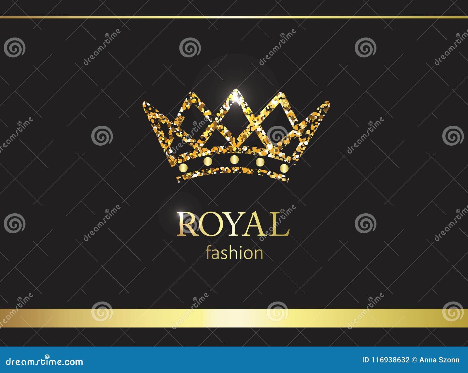 Coroa do ouro Etiqueta, emblema ou embalagem luxuosa Painel solar e sinal para a energia alternativa