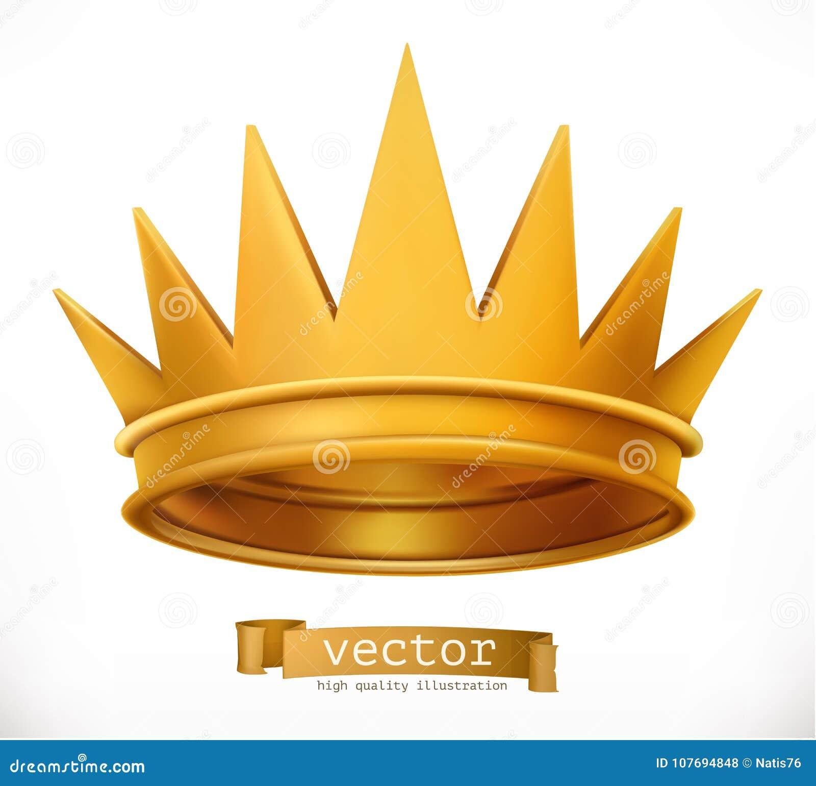 Coroa do ouro Rei Engrena o ícone