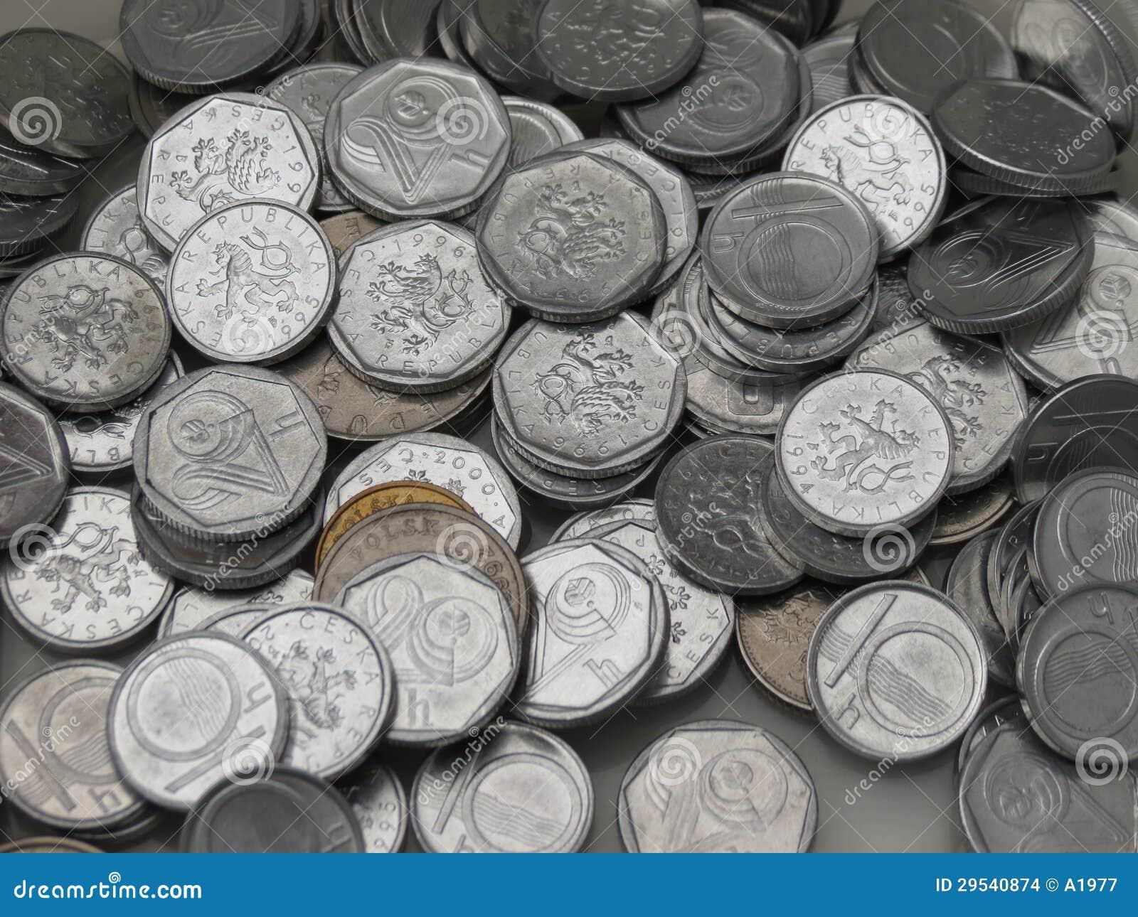 Coroas checas das moedas