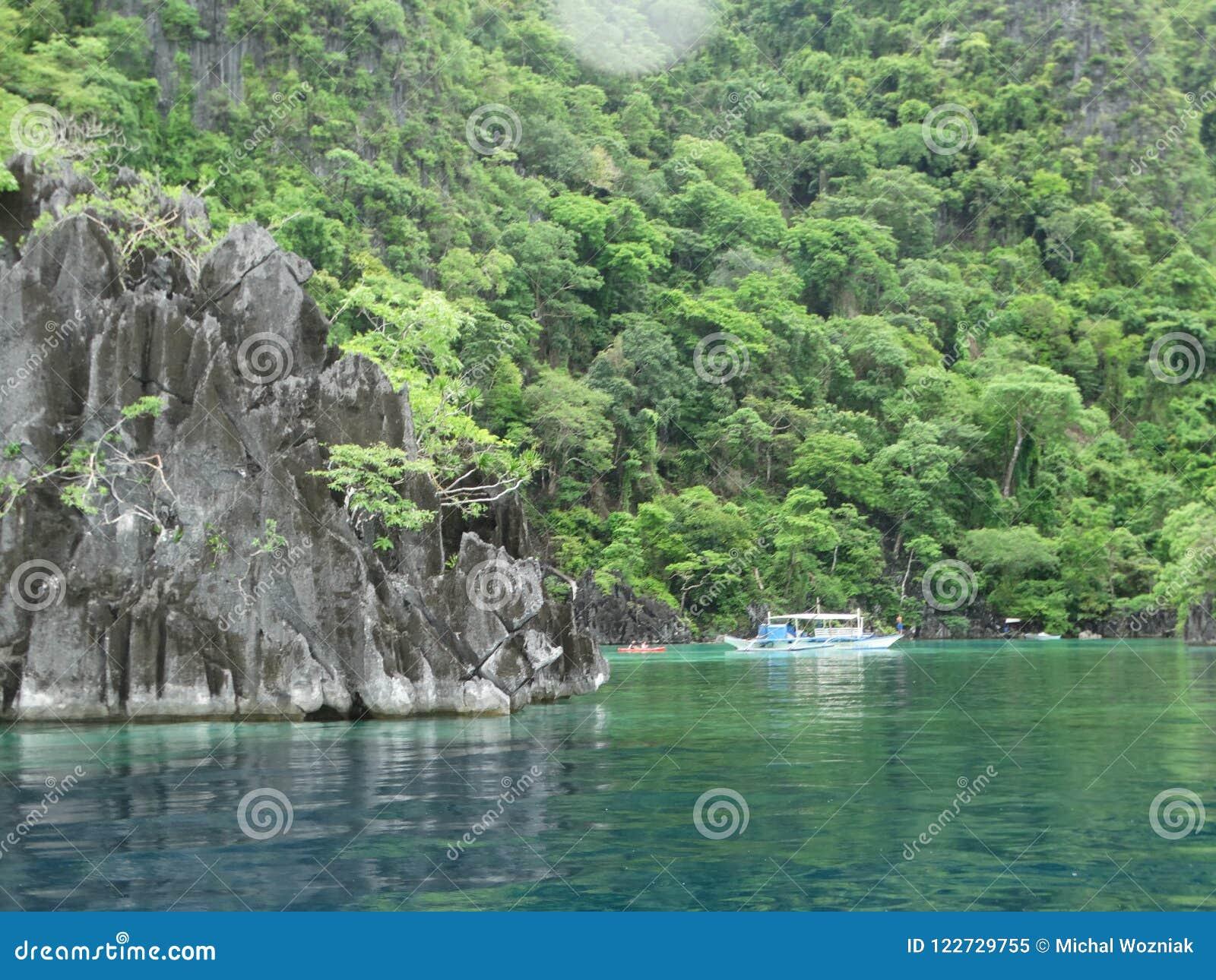 Coron Palawan Philippines Island Hopping Stock Image