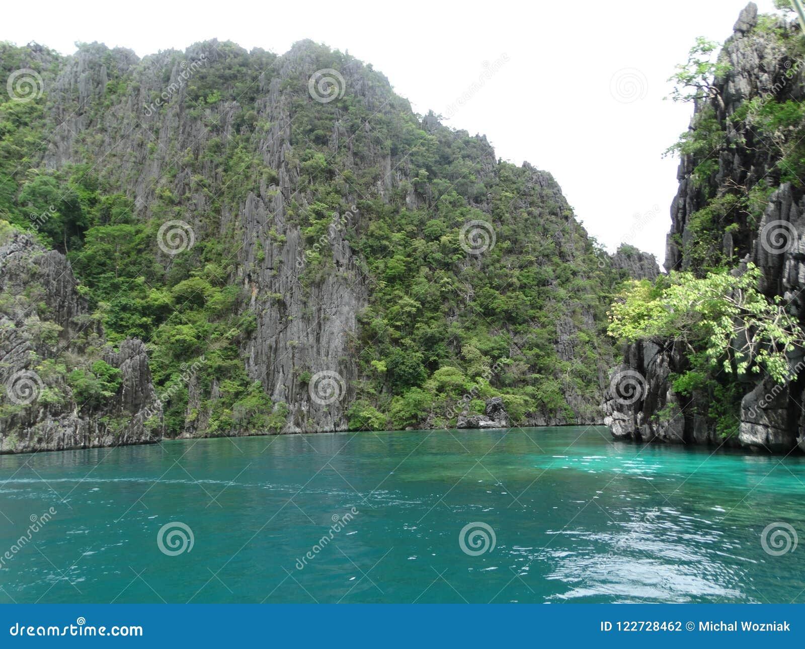 Coron Palawan Philippines Island Hopping Stock Photo