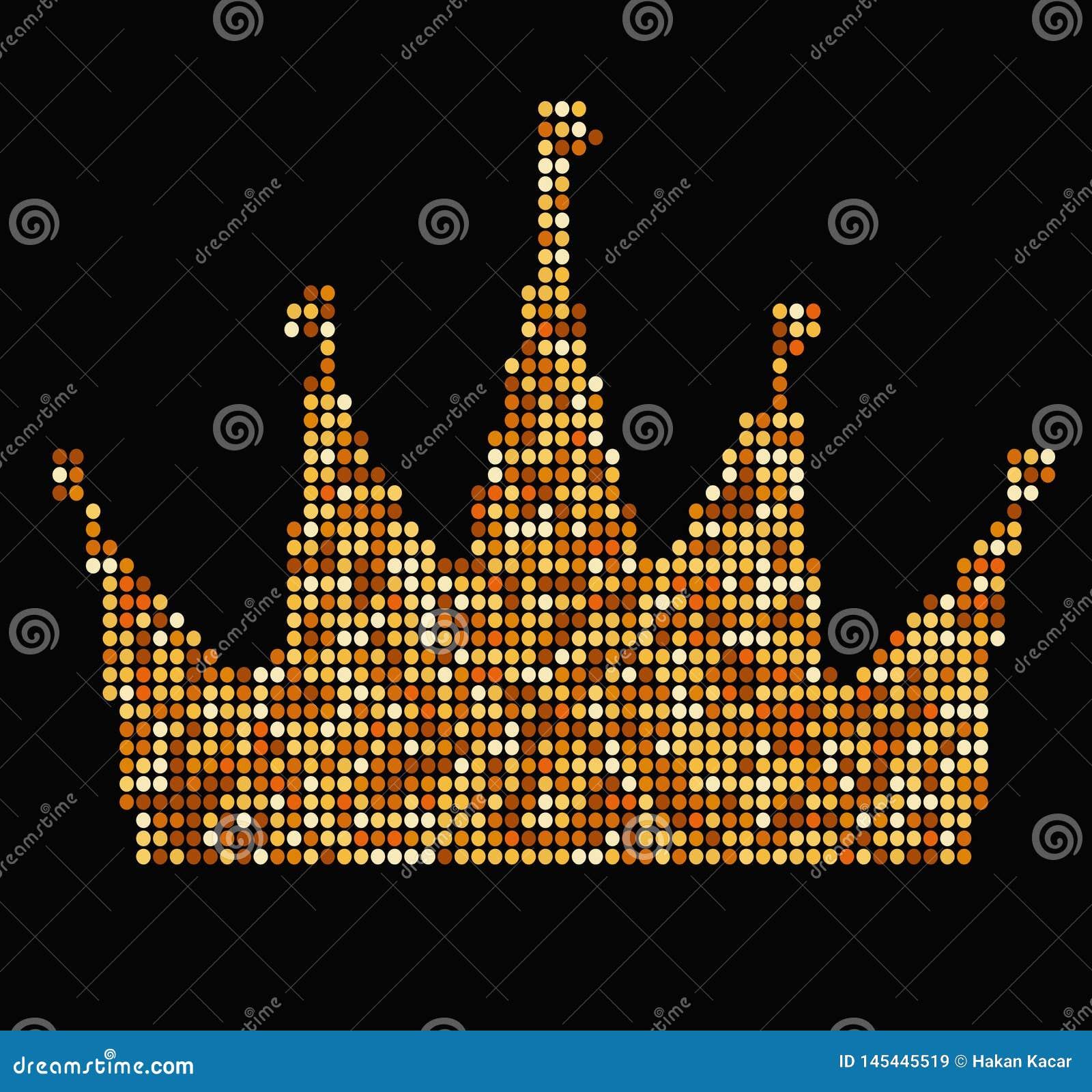 Corona con estilo de lujo del vintage de los ejemplos de los rayos