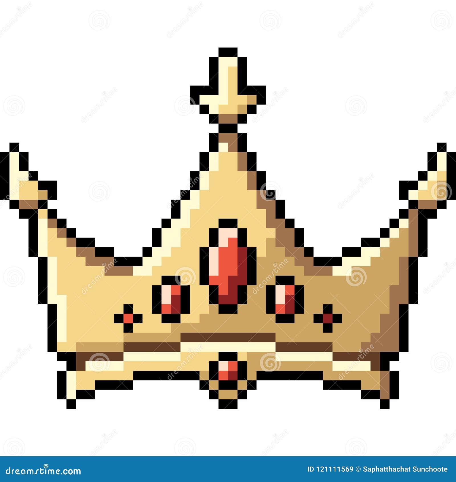 Corona del arte del pixel del vector