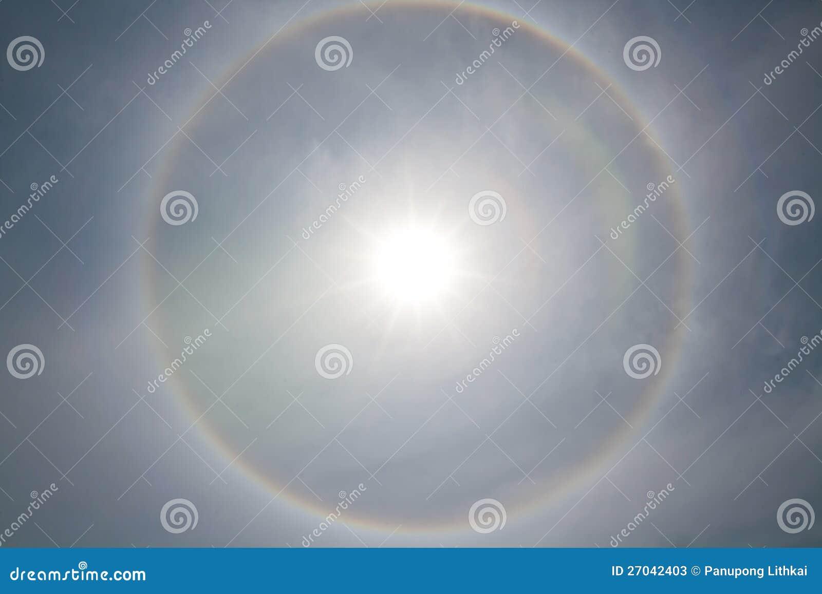 Corona del fondo anillo alrededor del sol fotos de for Fondo del sol
