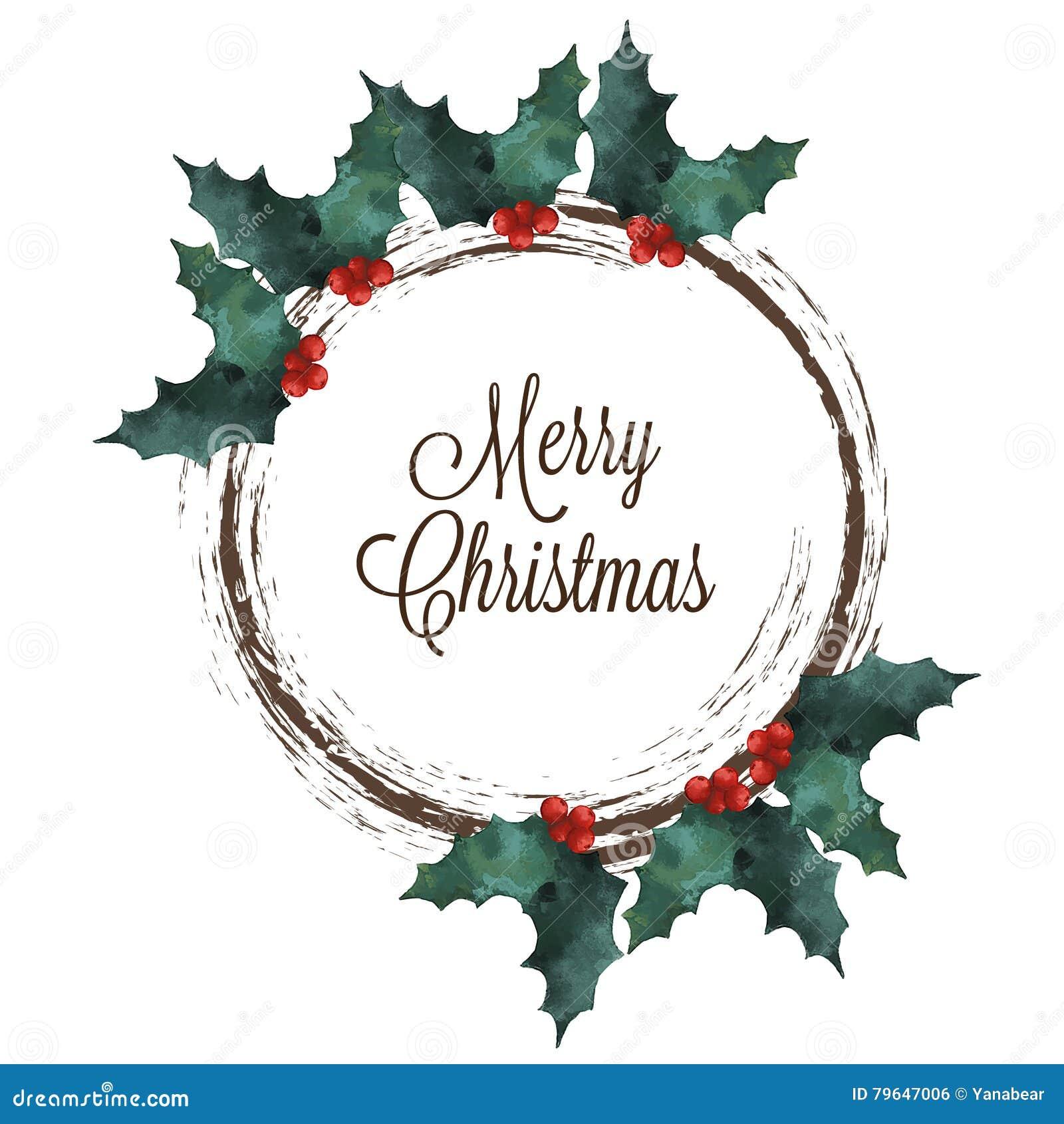 Buon Natale Particolare.Corona Di Buon Natale Con Agrifoglio Ed Il Testo Dell Iscrizione