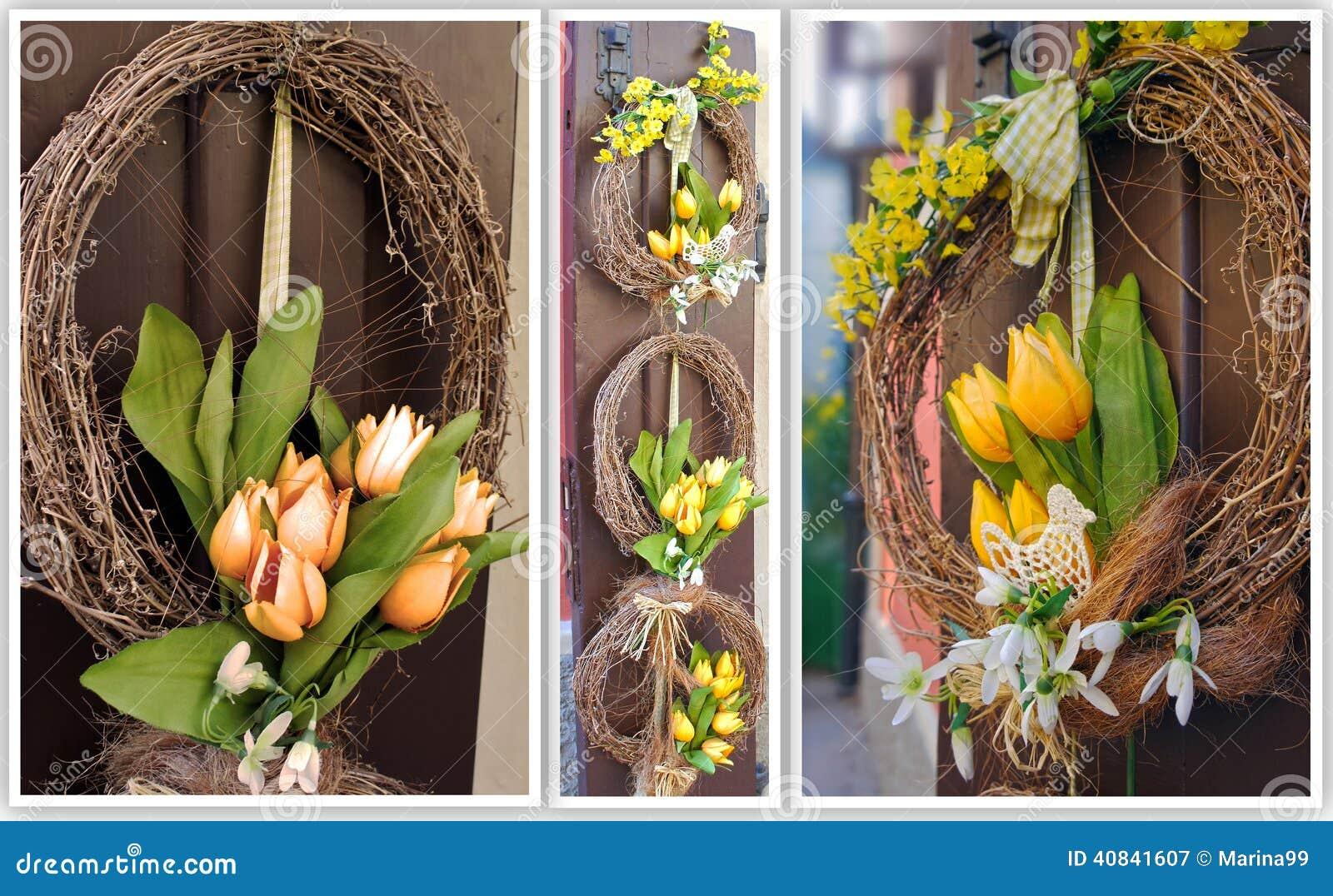 Corona di pasqua decorazione della primavera sulla porta for Design della casa libera
