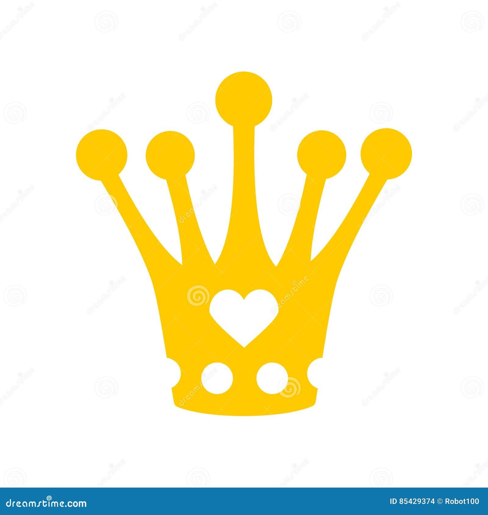 Corona per piccola principessa Cappello reale diadema isolato