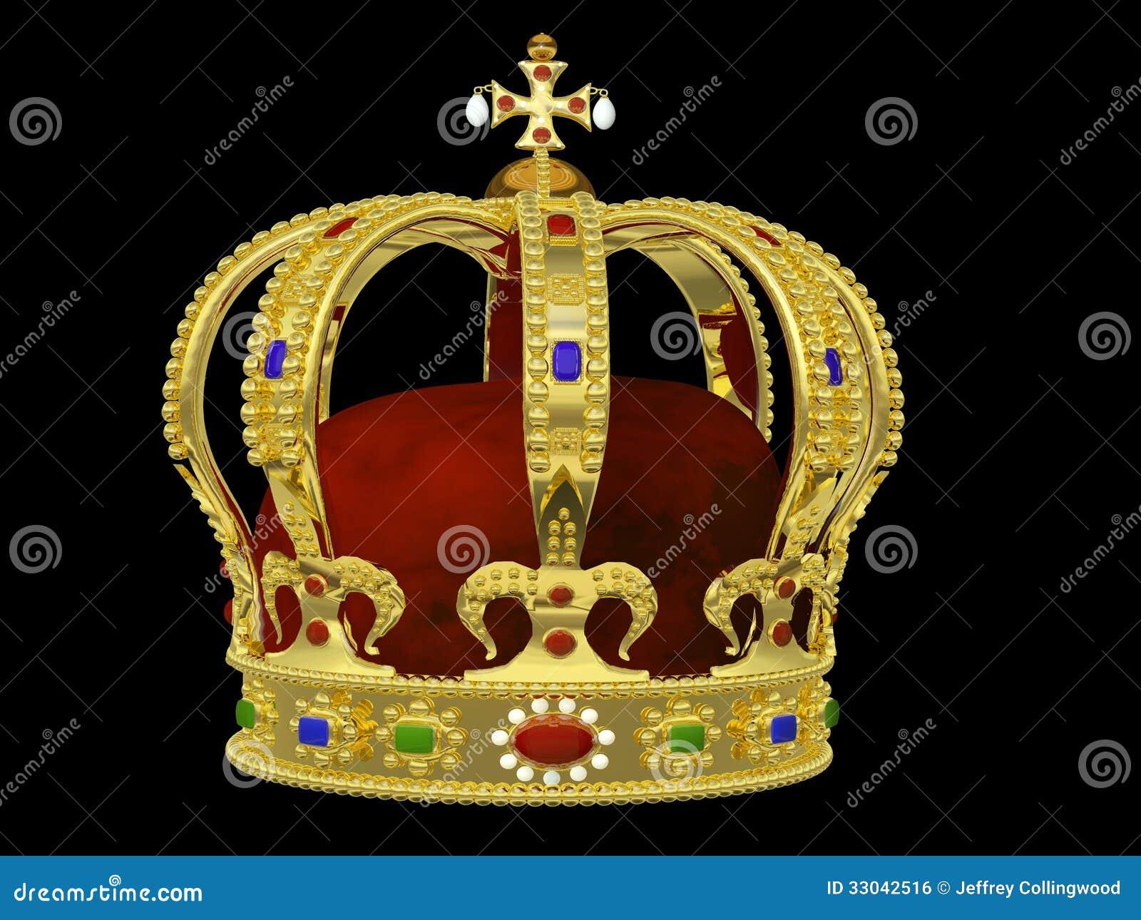 Corona real con las joyas