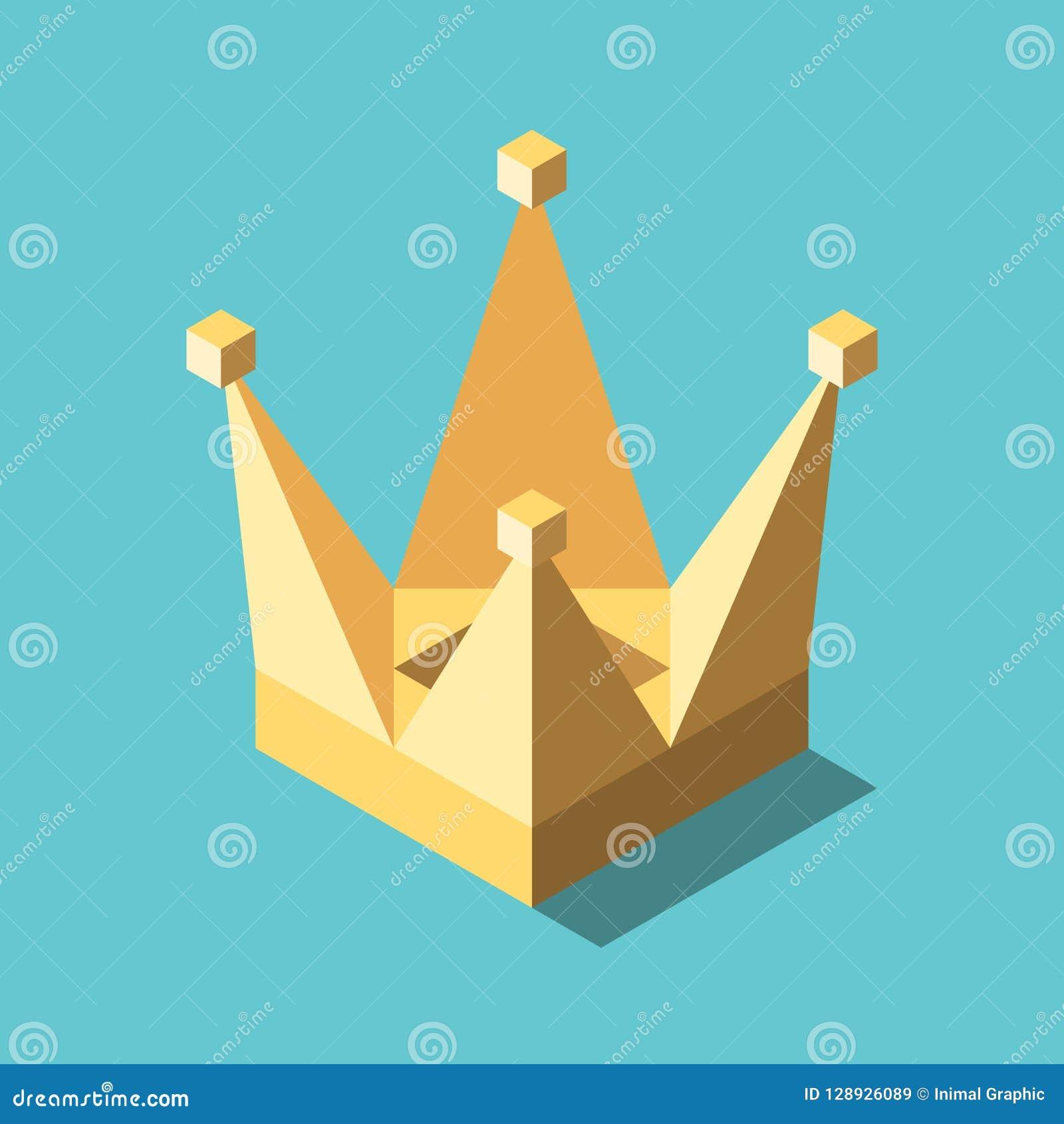 Corona semplice isometrica dell oro