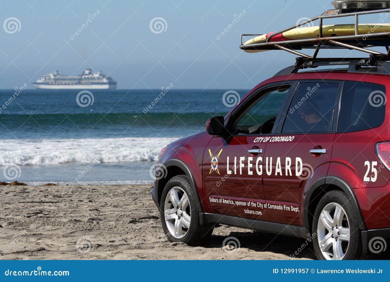 Coronado Beach Lifeguard Ocean And Cruise Ship Editorial Photo Cartoondealer Com 12991957