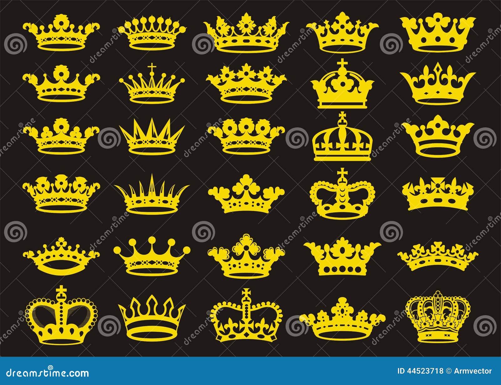 Coronas de las siluetas fijadas