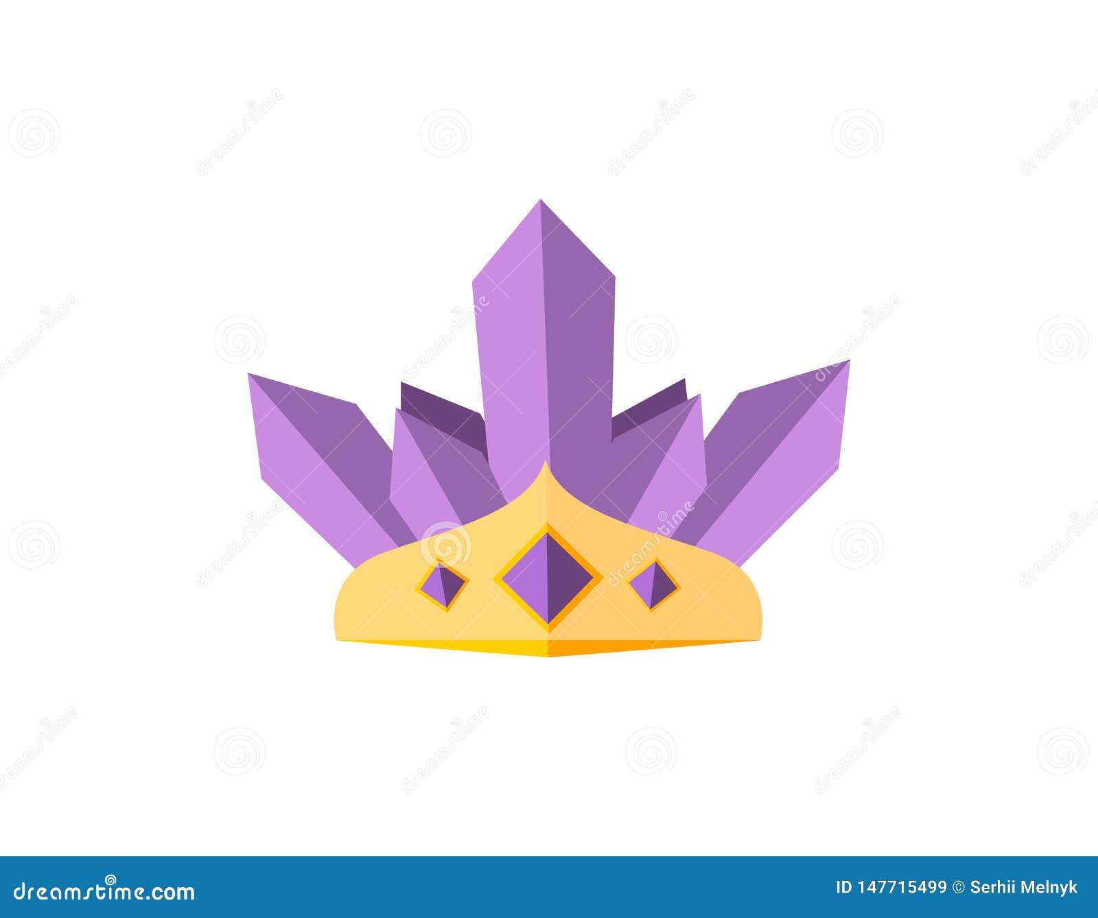 Coronas del oro del vector