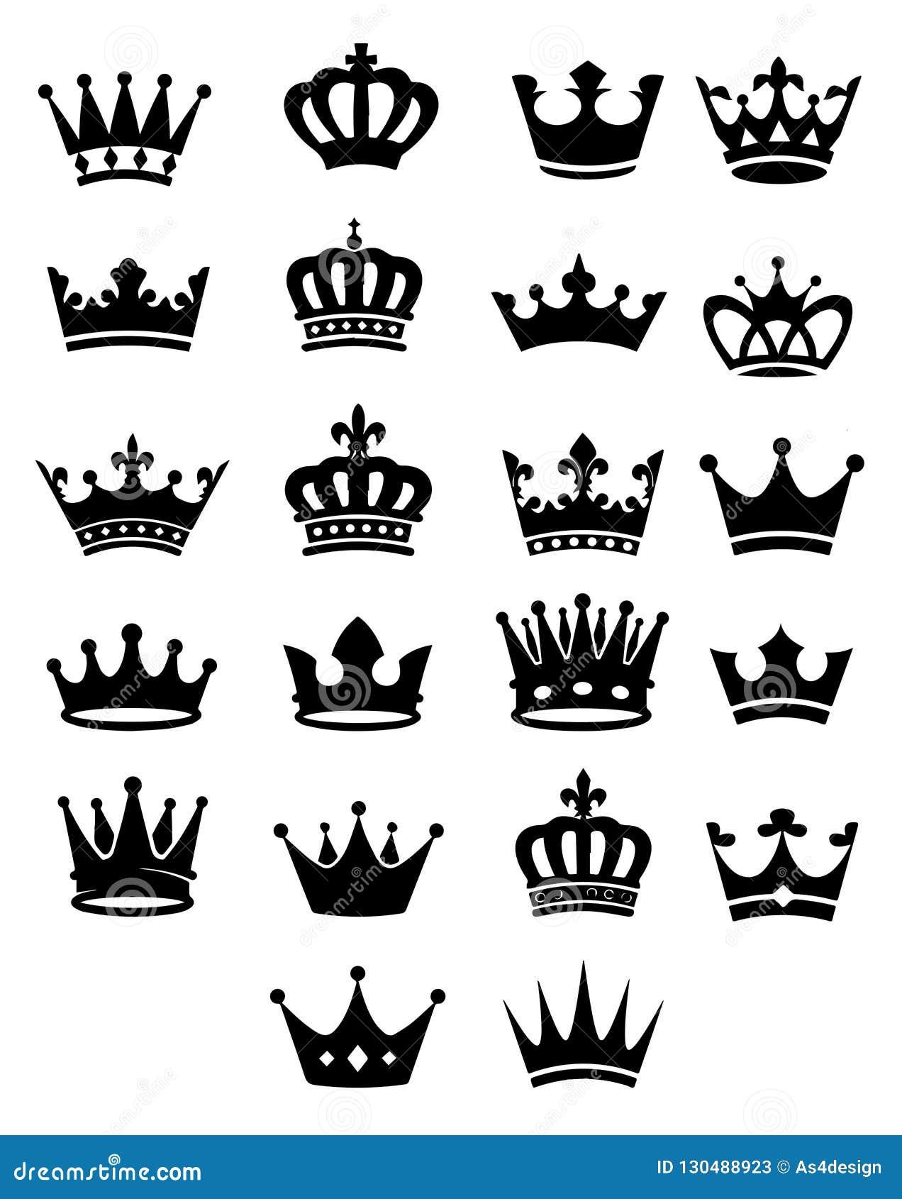 22 coronas negras reales únicas en diversas formas