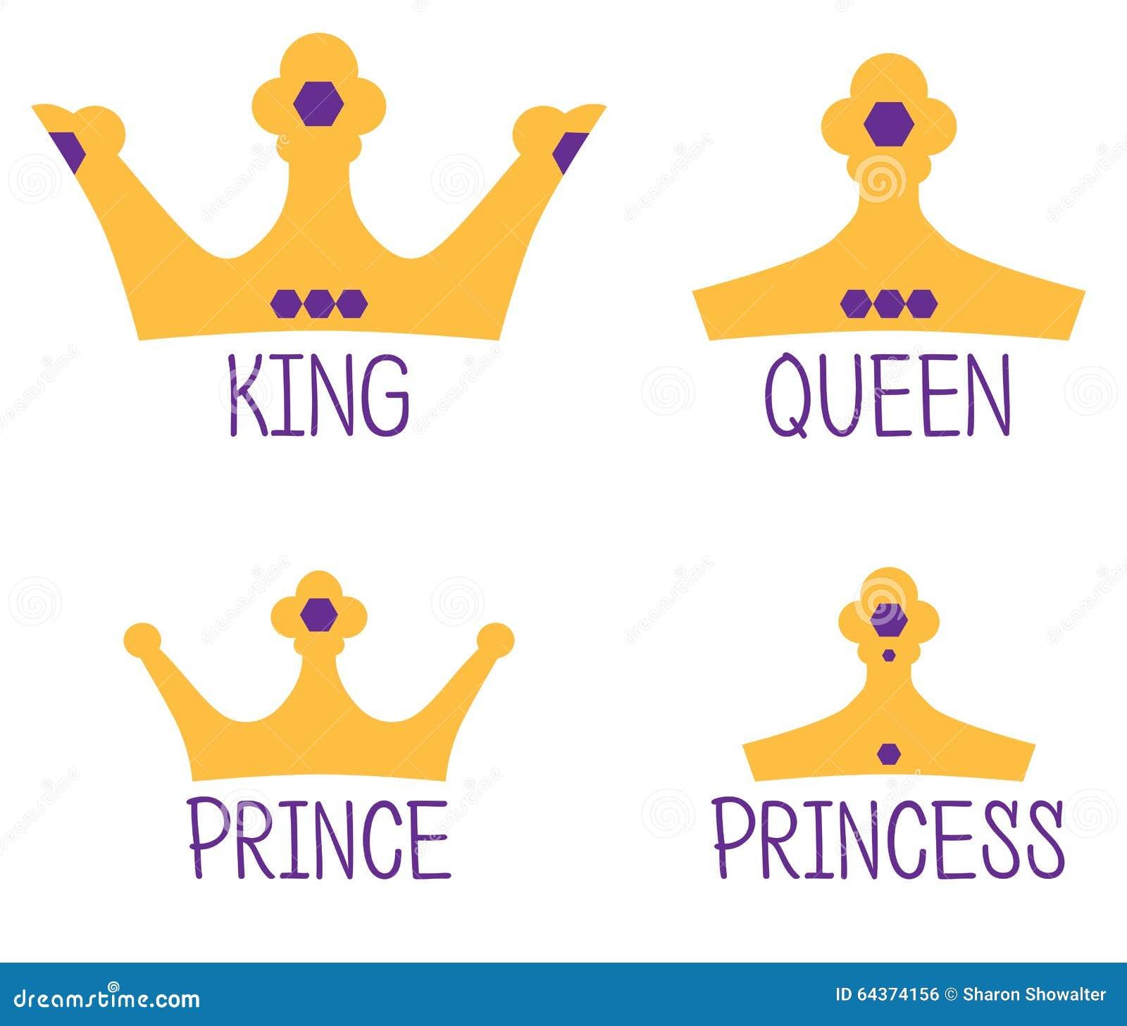 Coronas Reales Rey Reina Príncipe Princesa Foto De Archivo