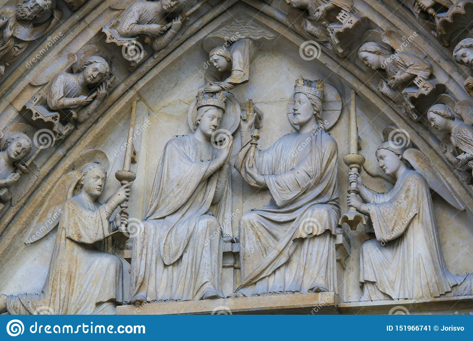 Coronation of Mary by Christ at Notre Dame, Paris