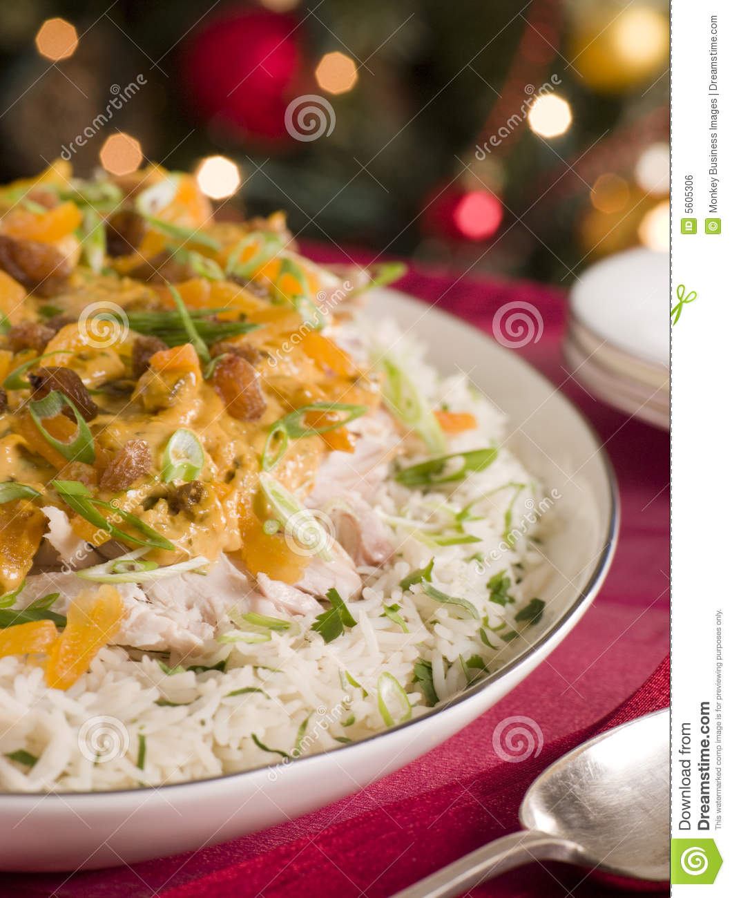 Coronation Turkey Rice Salad Royalty Free Stock Image - Image: 5605306
