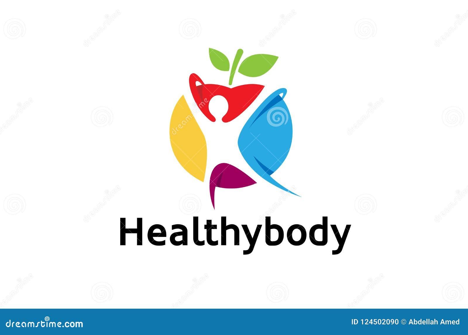 Corpo espiritual saudável colorido criativo Logo Design