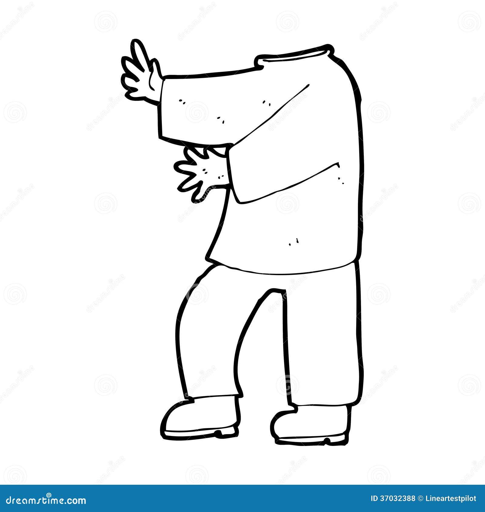Corpo Masculino Dos Desenhos Animados Os Desenhos Animados Da