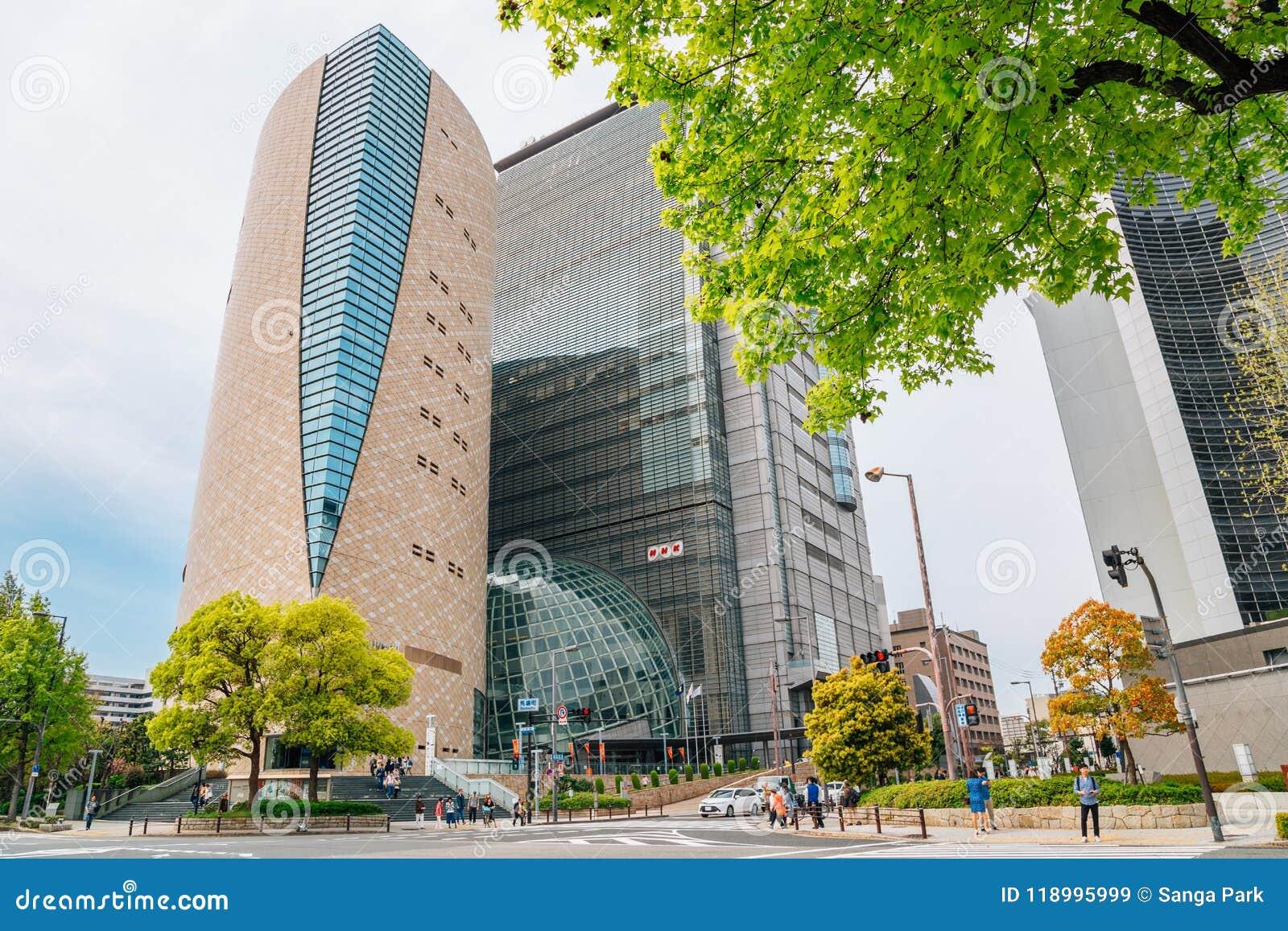 Corporación de radiodifusión de NHK Japón y Osaka Museum del edificio de la historia en Osaka, Japón