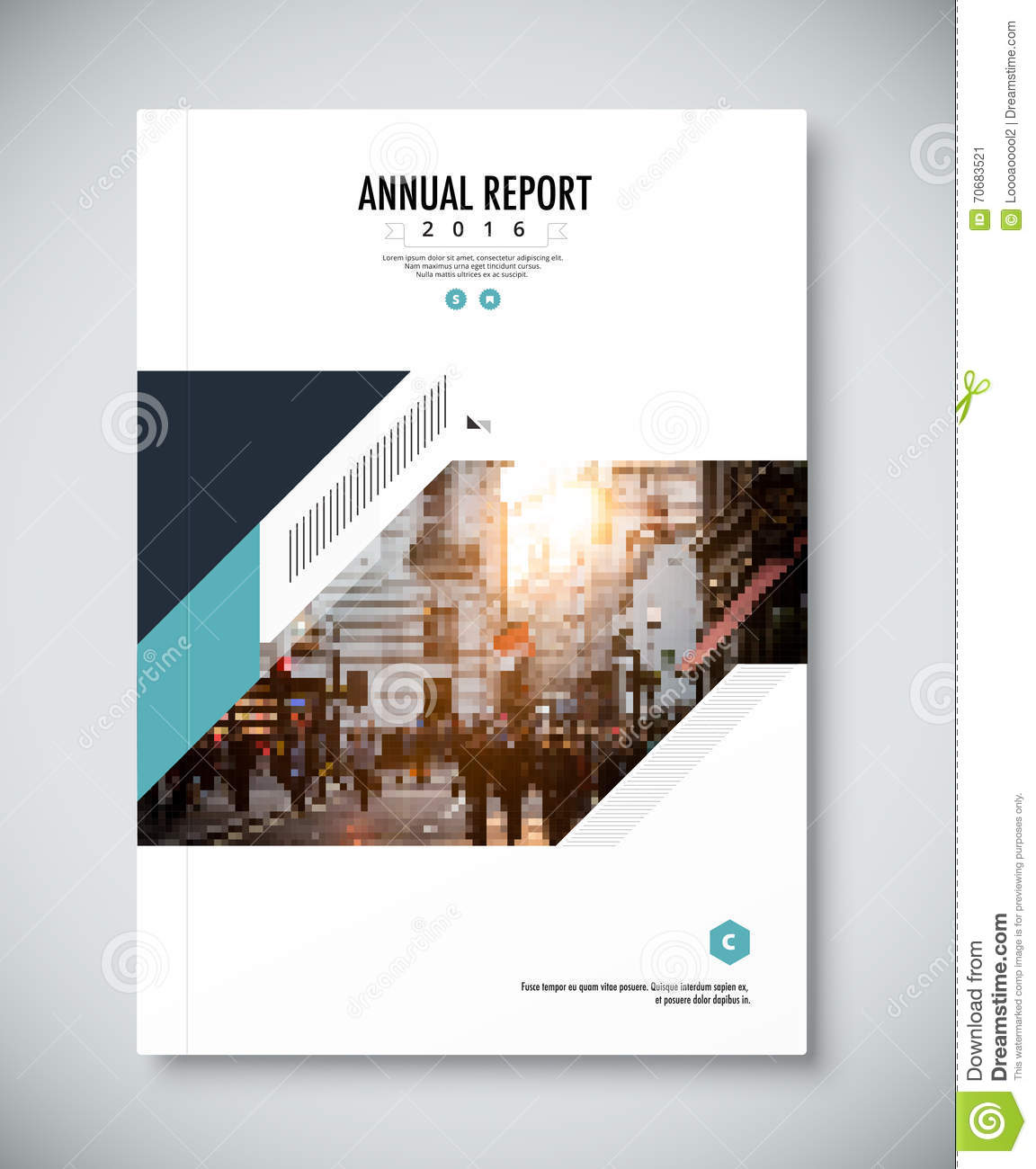 Corporate Annual Report Template Design. Corporate Business Docu  Annual Report Template Design