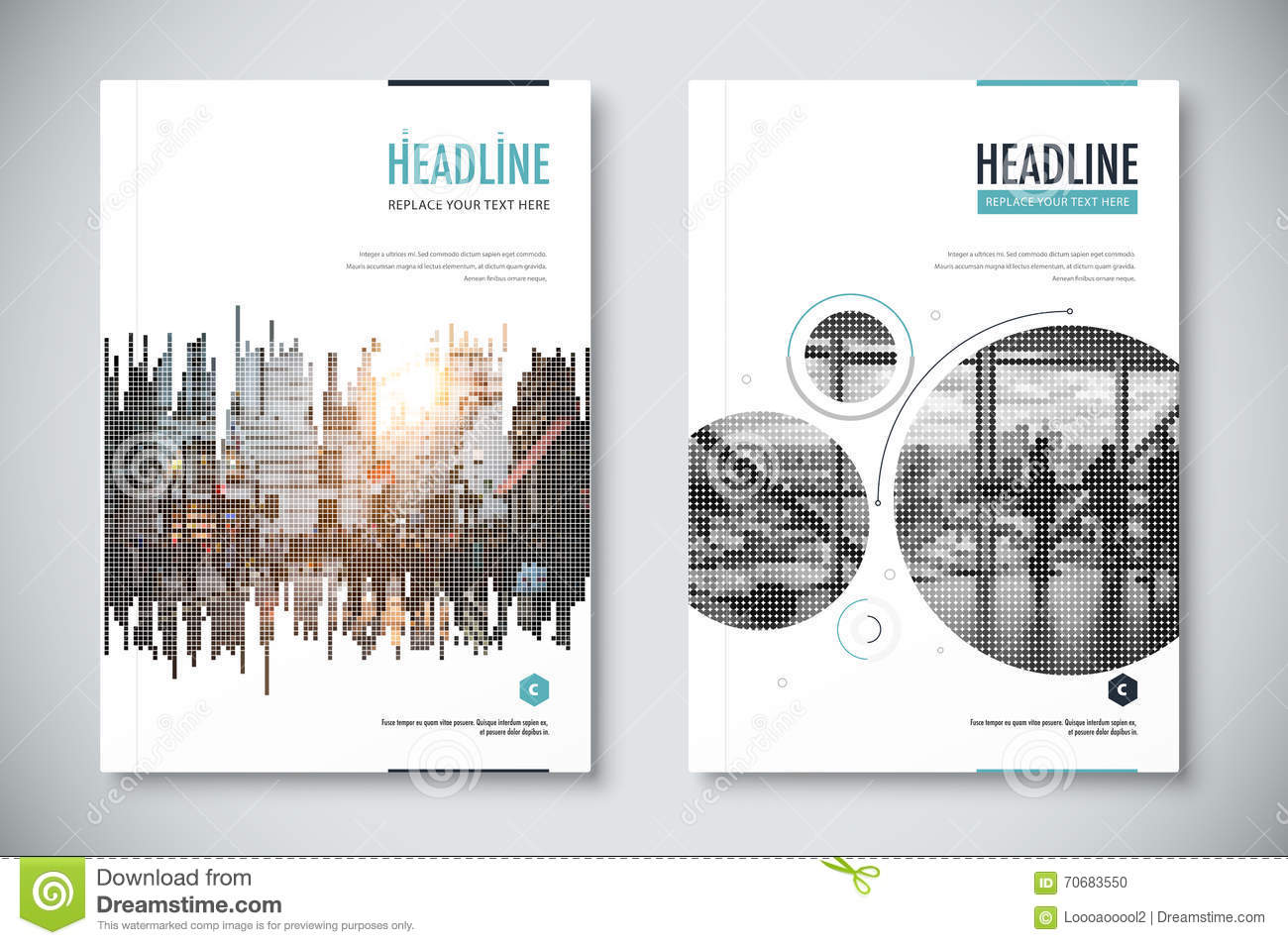Corporate Annual Report Template Design. Corporate Business Docu. Flyer,  Geometric.  Annual Reports Templates