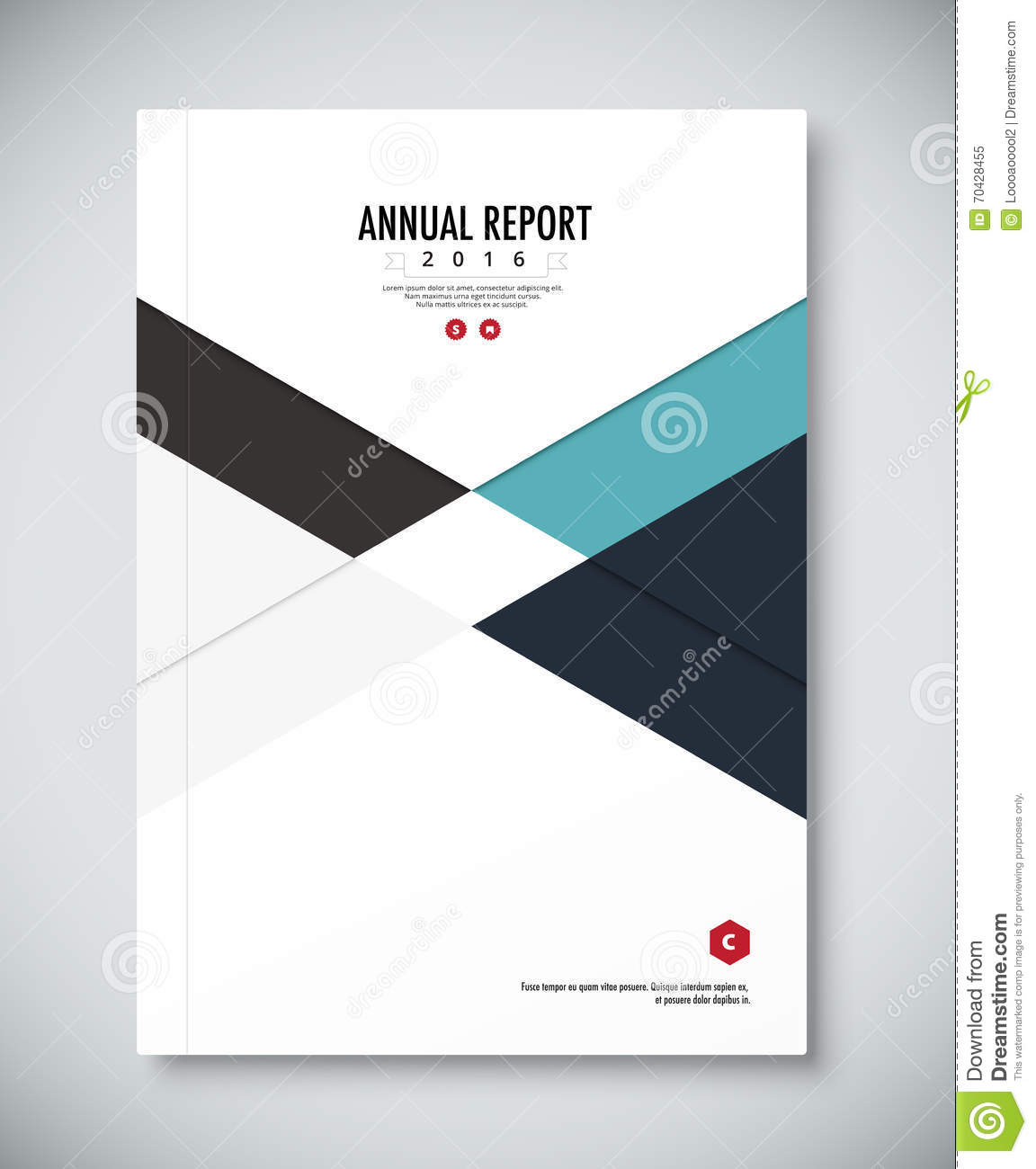 Corporate Annual Report Template Design Corporate Business Stock