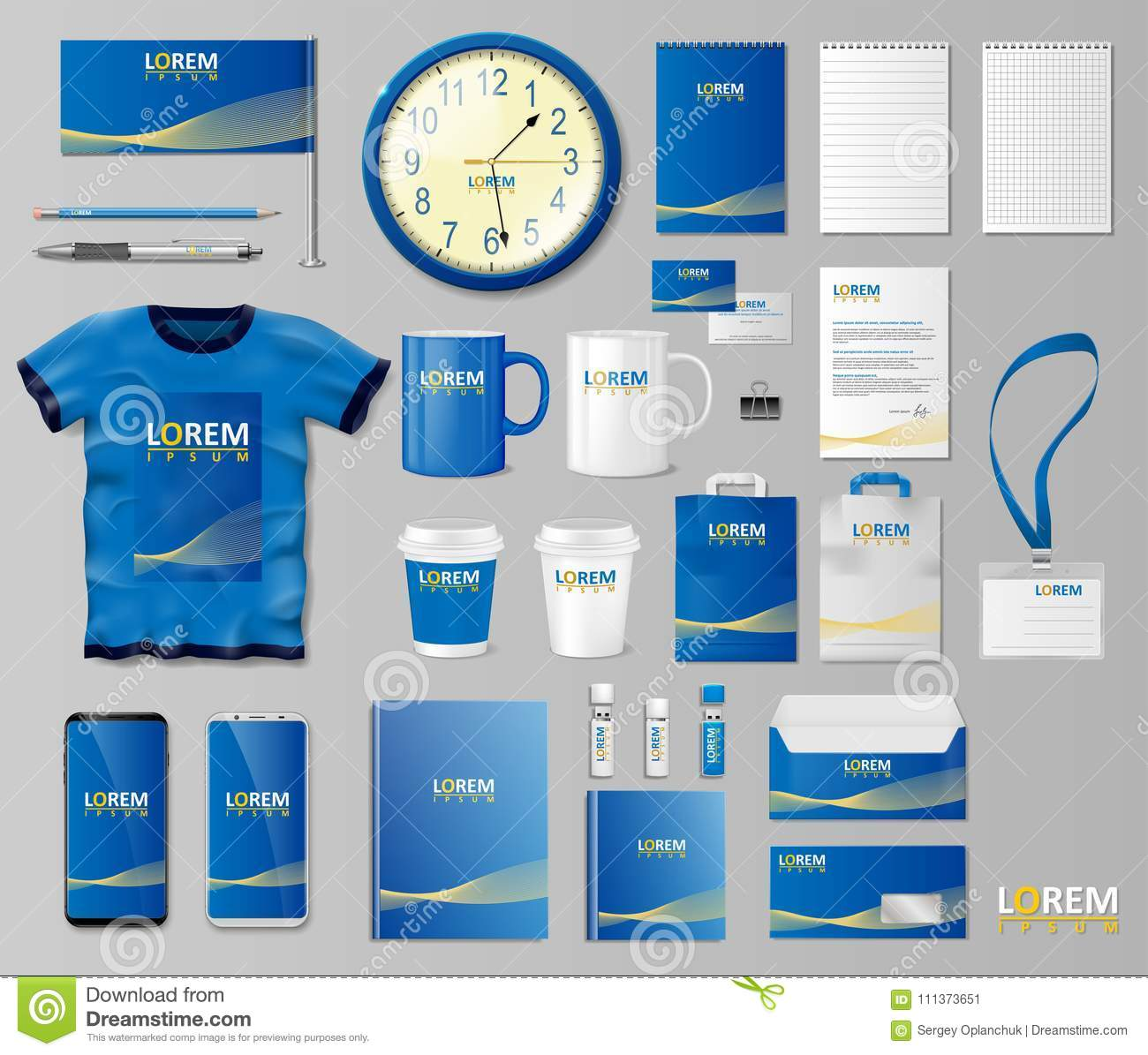 corporate branding identity template design stationery mockup for