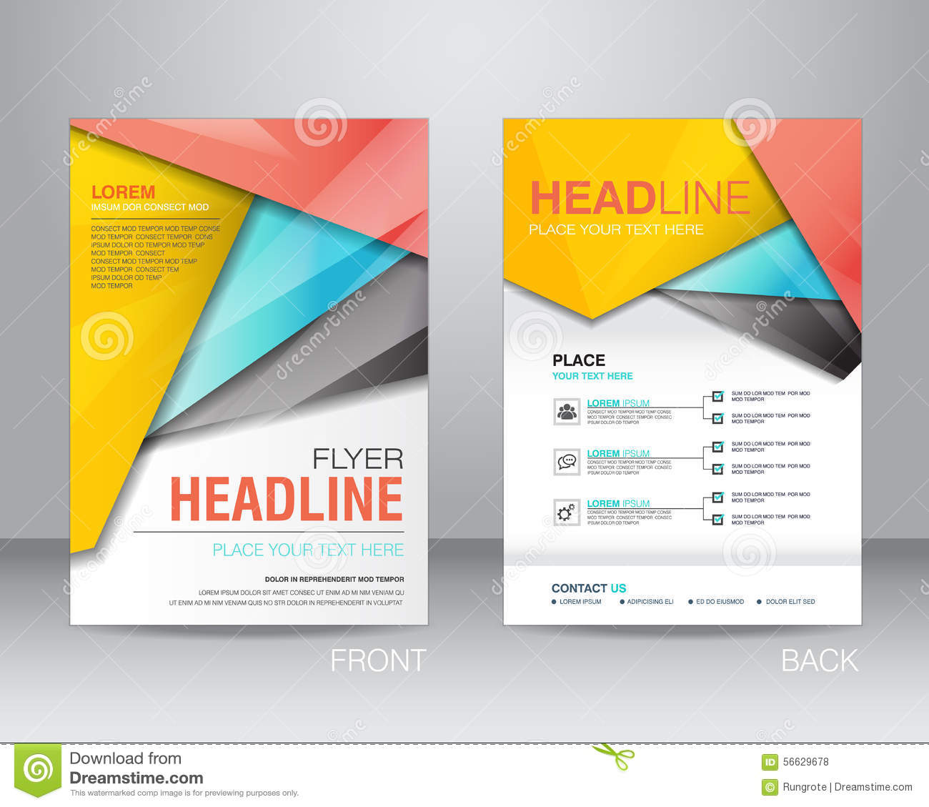 Corporate Brochure Flyer Design Layout Template In A4 Size, With  Pamphlet Layout Template