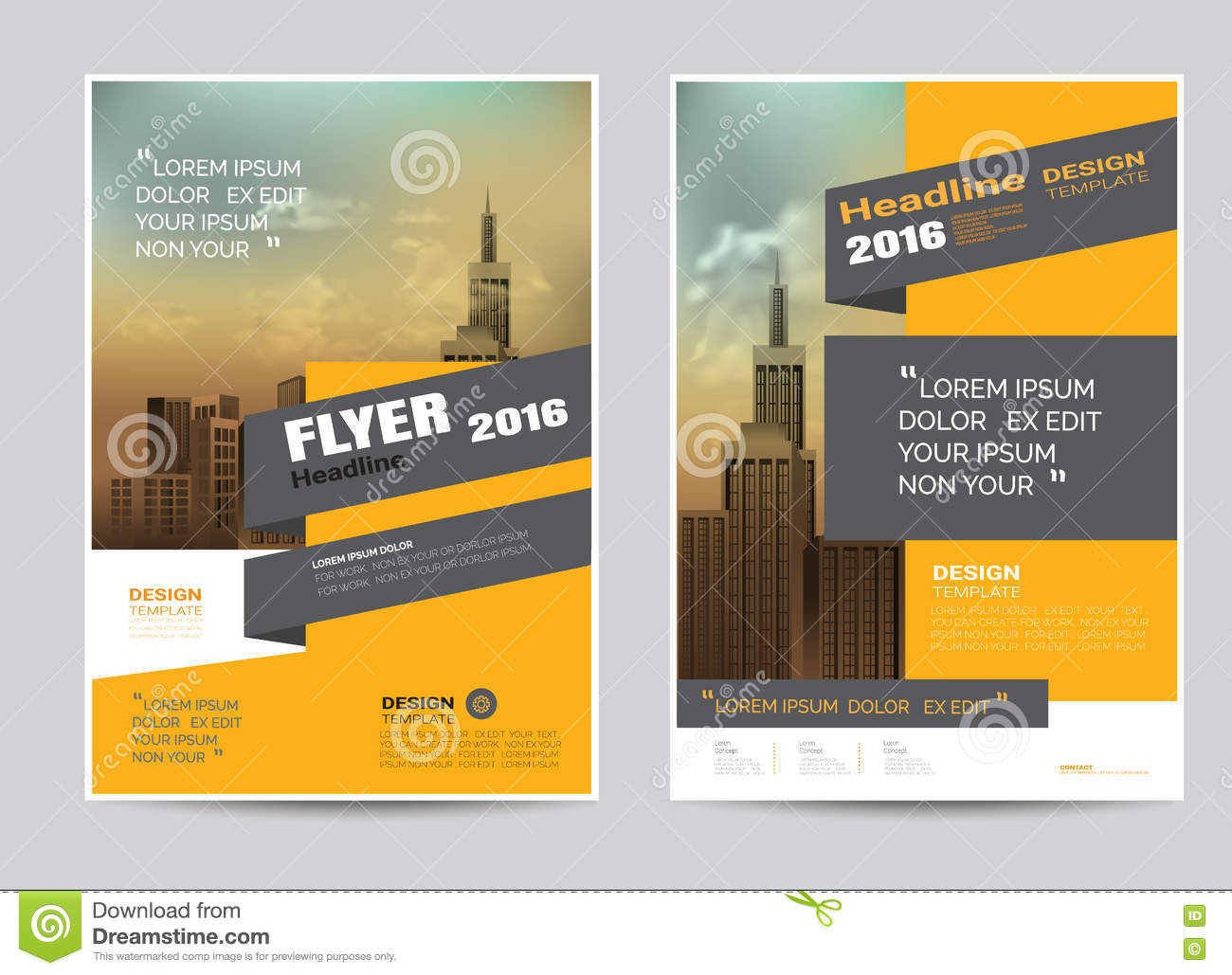 Corporate Brochure Flyer Design Layout Template In A4 Size Stock
