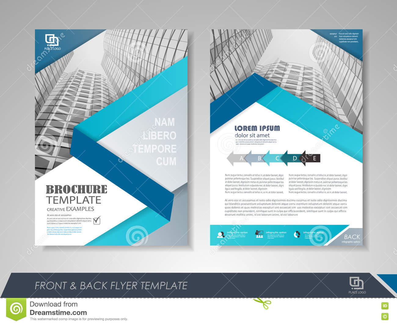 Corporate brochures stock vector illustration of blank for Brochure front cover design