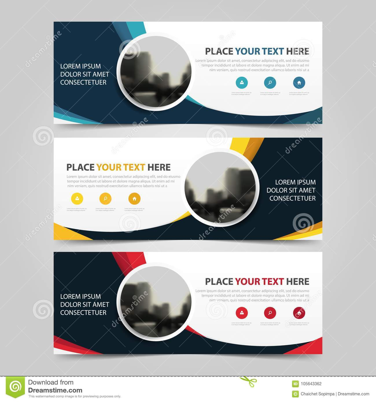 Download Free Flat Clean Corporate Business Flyer Template: Corporate Business Banner Template, Horizontal Advertising