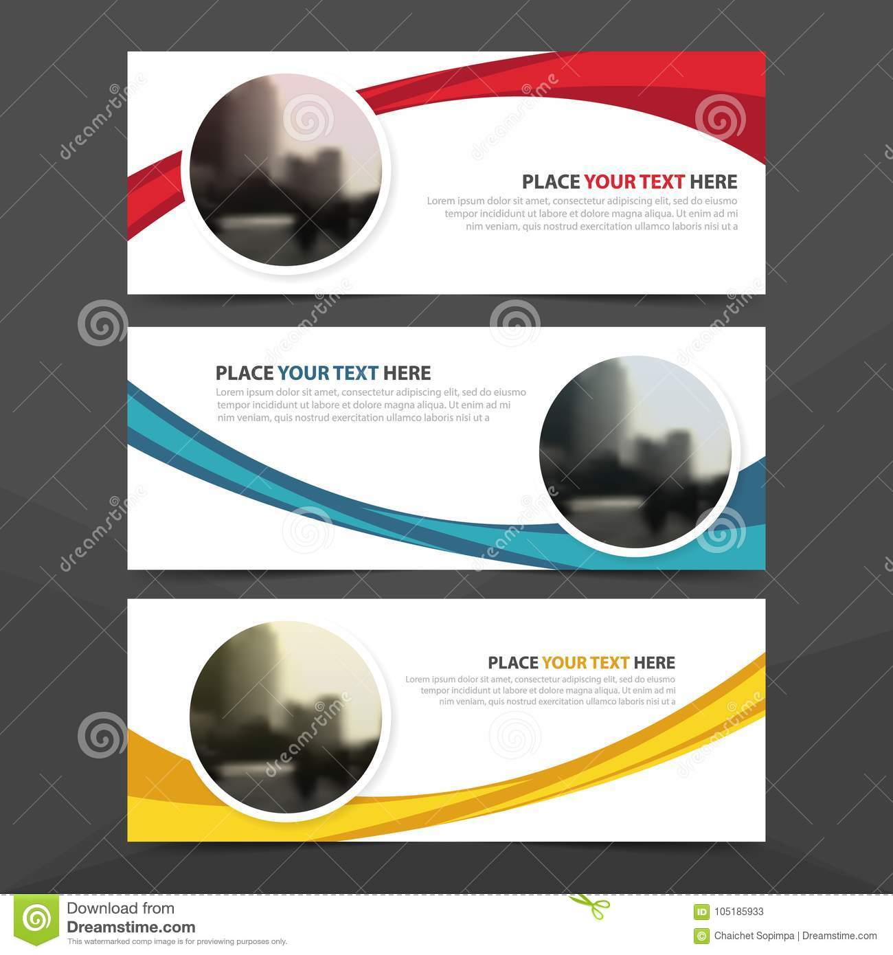 Corporate business banner template, horizontal advertising business banner layout template flat design set , clean abstract cover