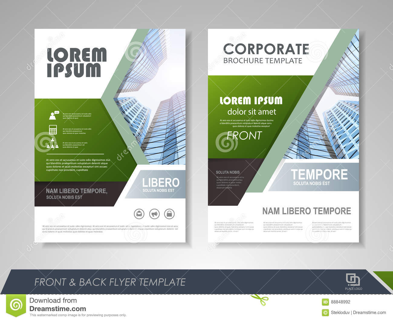 Corporate business brochure stock vector image 88848992 for Company brochure template free download