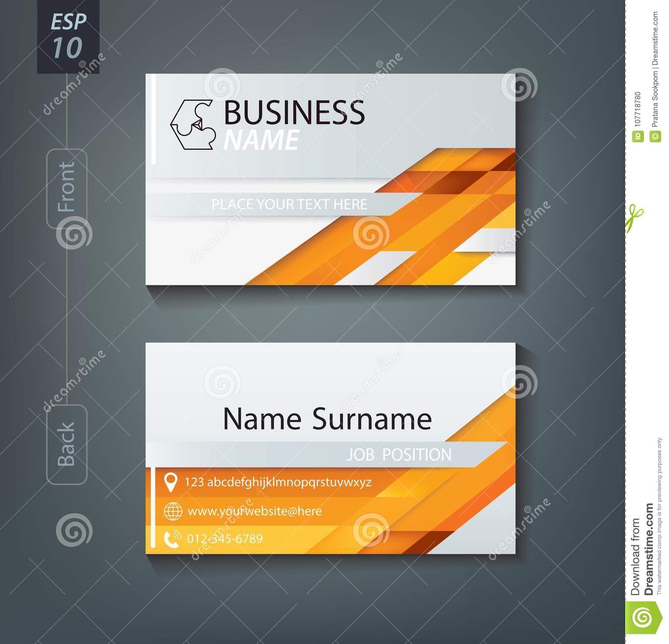 corporate business card personal name card design template stock