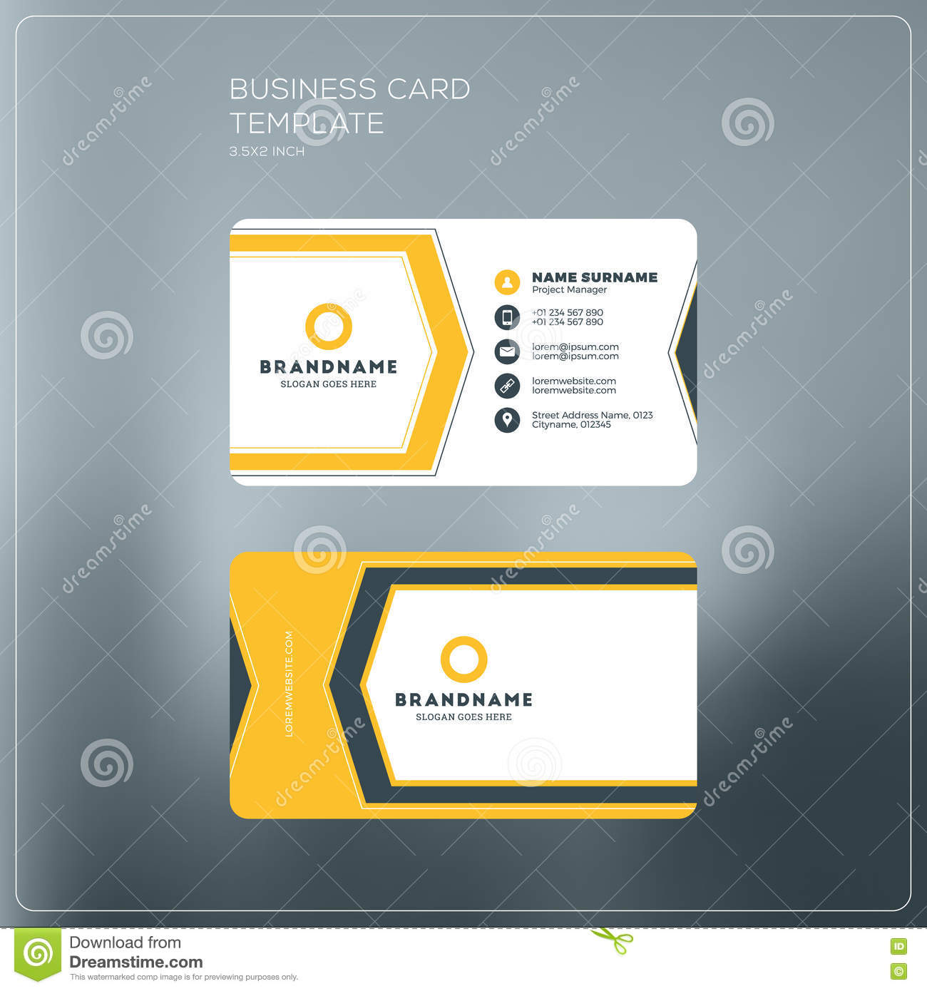 Corporate business card print template personal visiting card stock corporate business card print template personal visiting card royalty free vector cheaphphosting Image collections