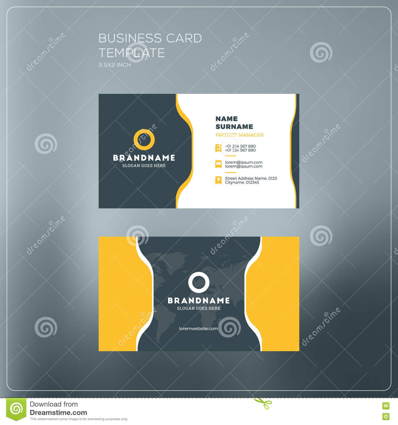 Corporate Business Card Print Template Personal Visiting Card - Personal business cards template