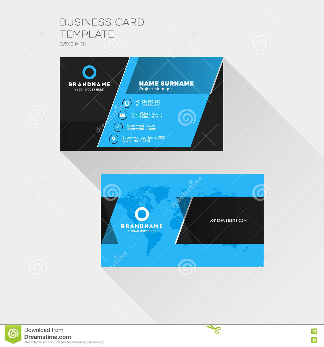 Corporate business card print template personal visiting card stock royalty free vector download corporate business card print template personal visiting card stock vector illustration of creative accmission Images