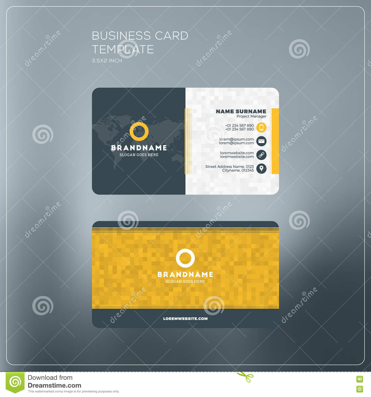 Corporate business card print template personal visiting card w corporate business card print template personal visiting card w accmission Choice Image