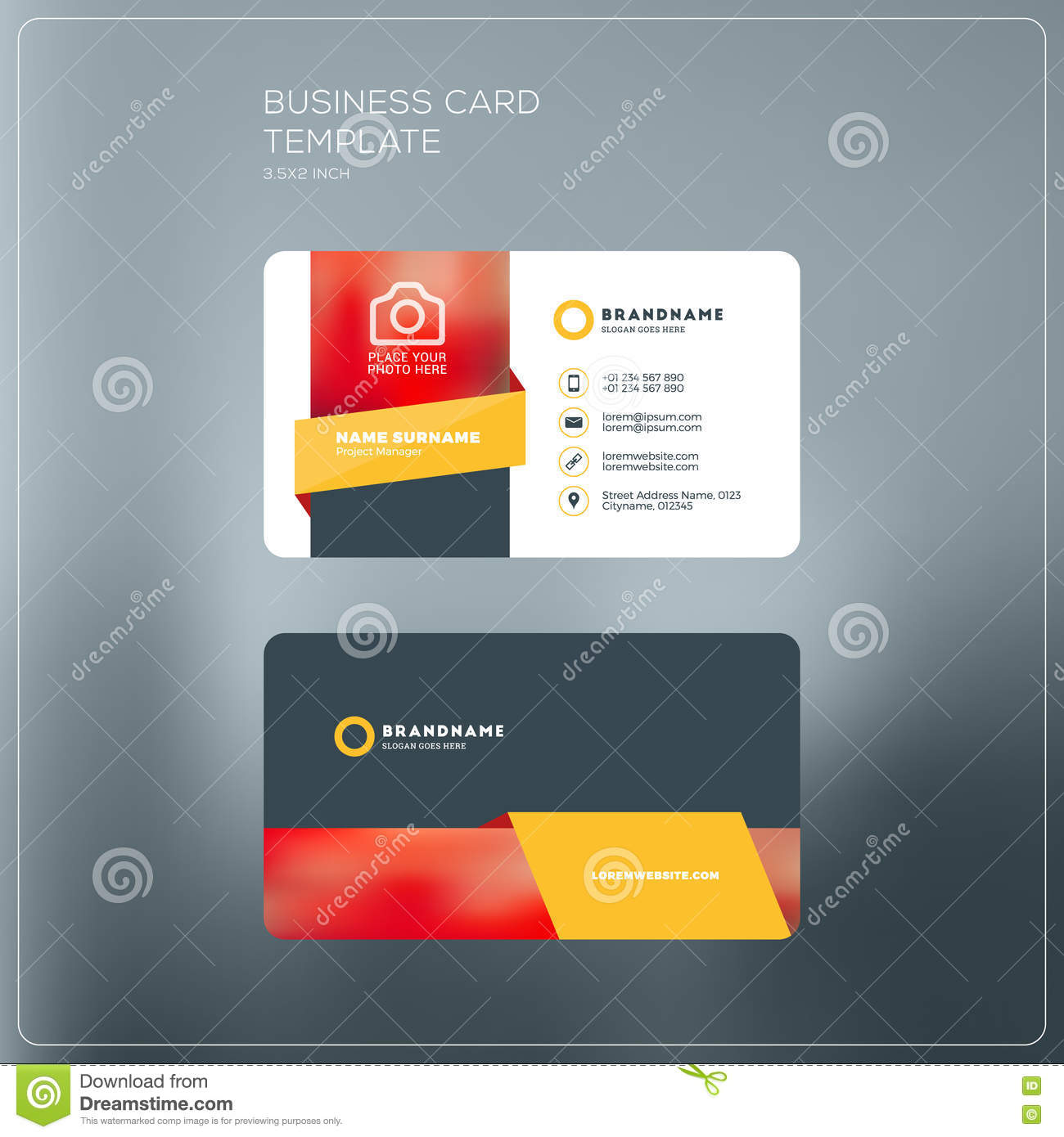 Corporate business card print template personal visiting card w corporate business card print template personal visiting card w friedricerecipe Image collections