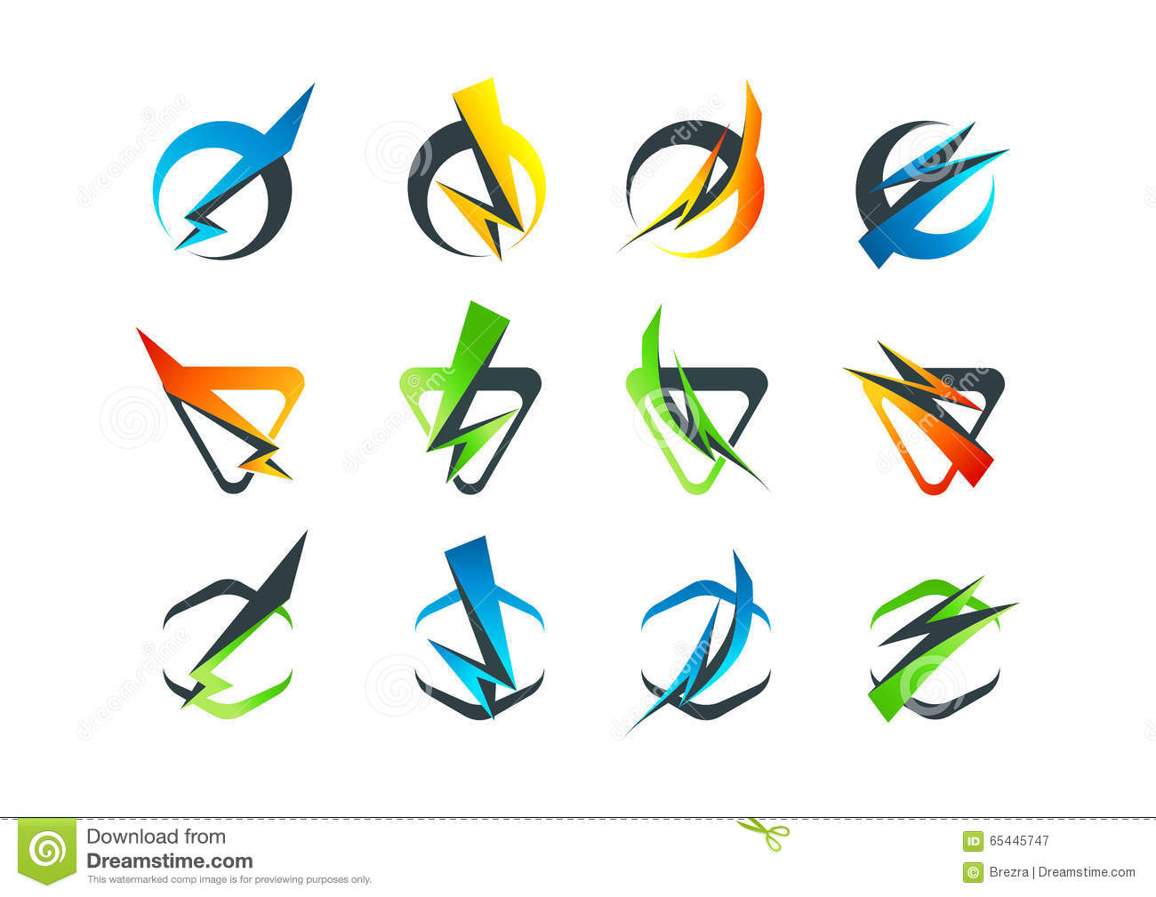 corporate business logo flash symbol icon and thunderbolt concept rh dreamstime com free vector download corporate flyer free vector download corporate flyer