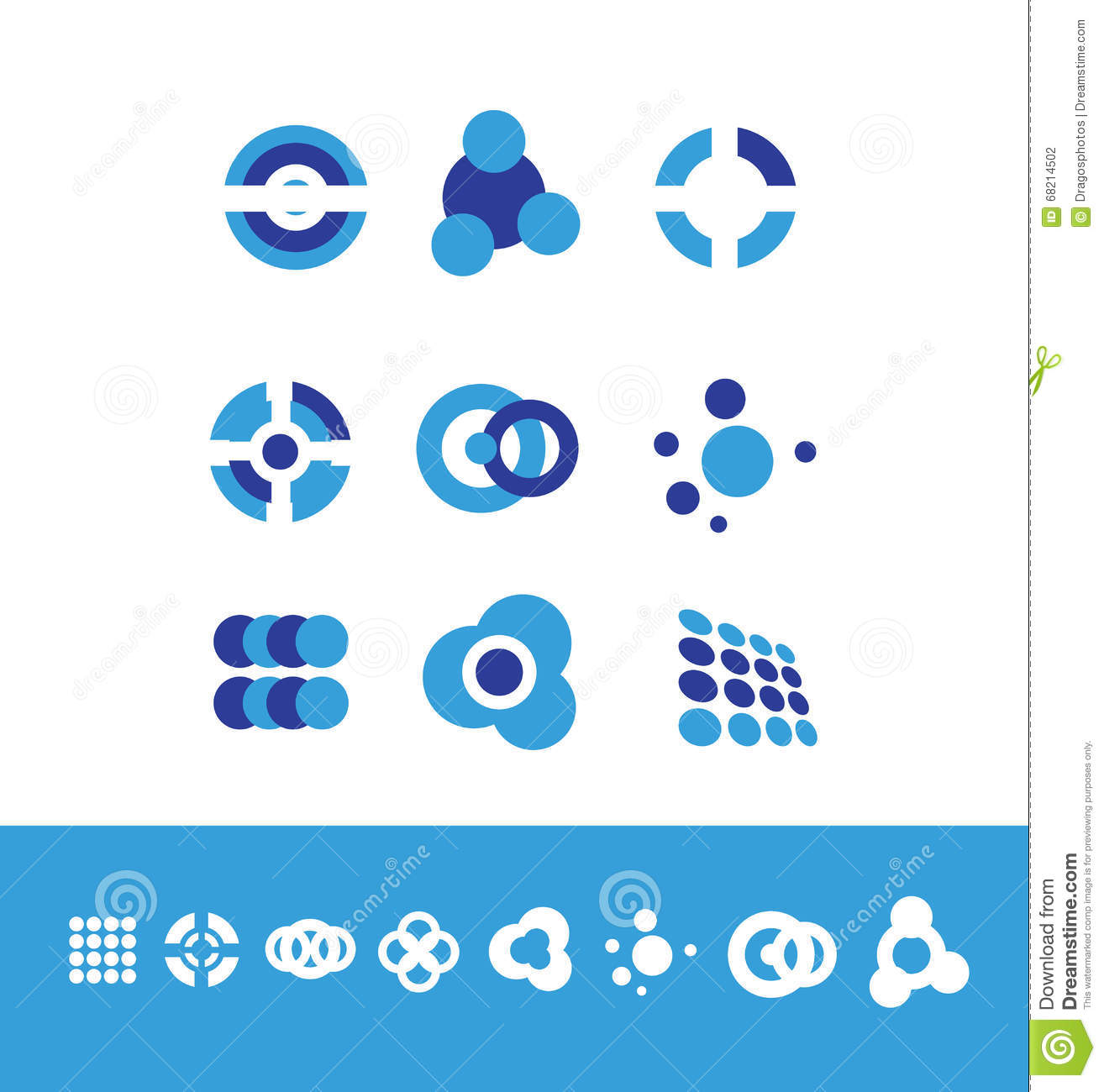 Corporate Business Logo Set Circle Stock Vector - Illustration of ...