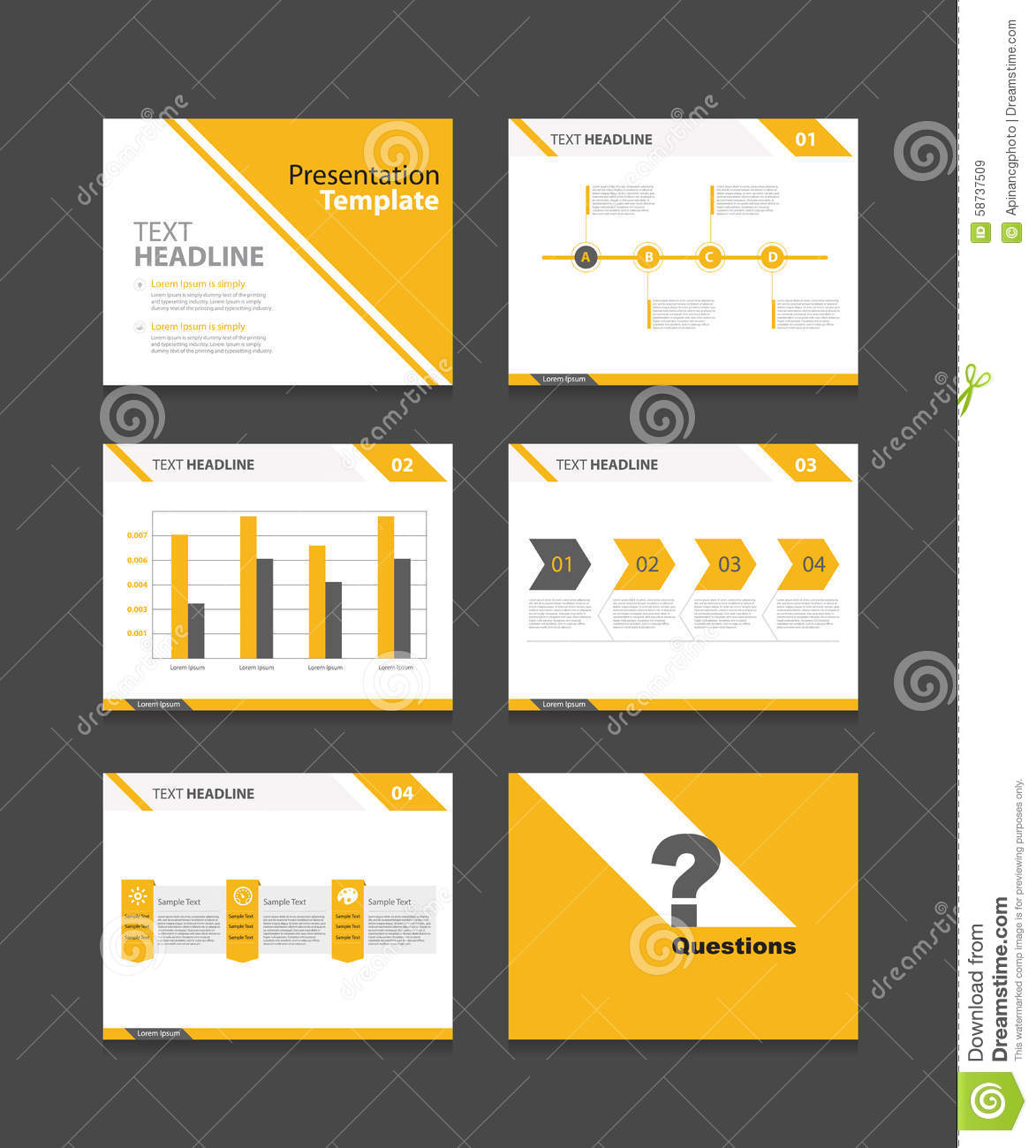 Corporate business presentation template for Ecran graphisme