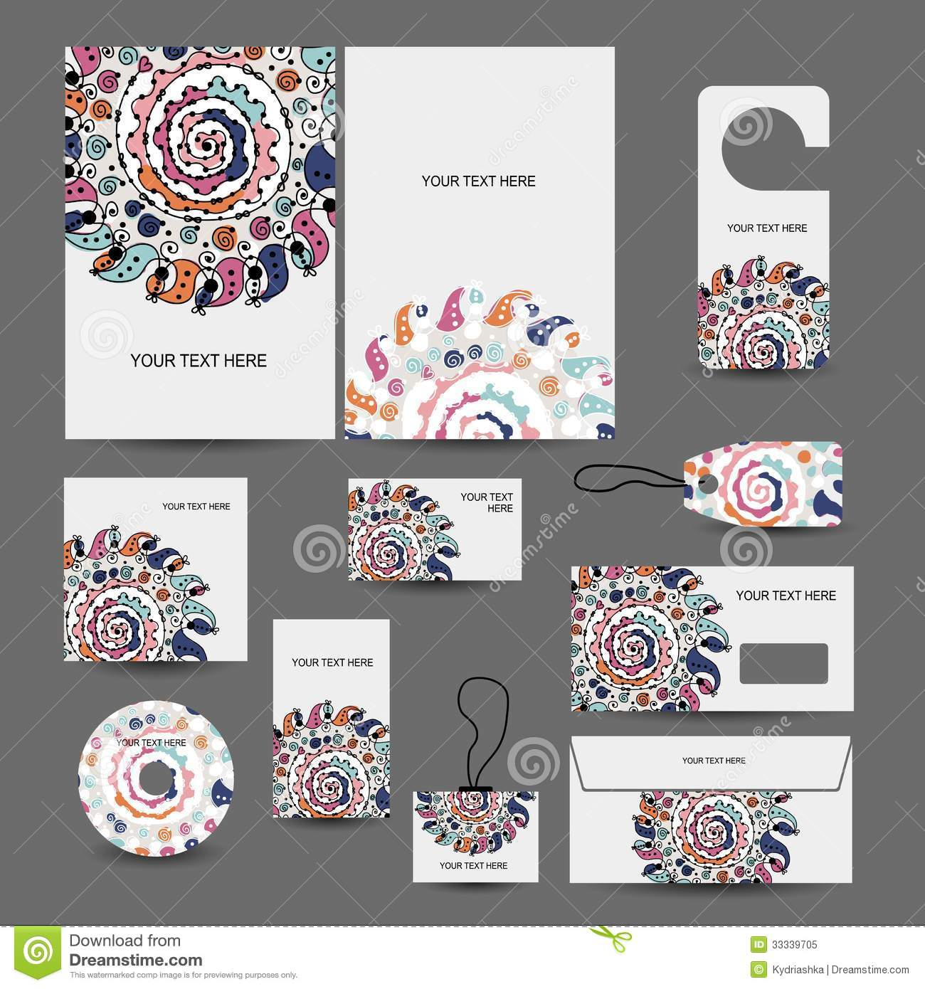 File Decoration Designs: Corporate Business Style Design: Folder, Labels, Royalty