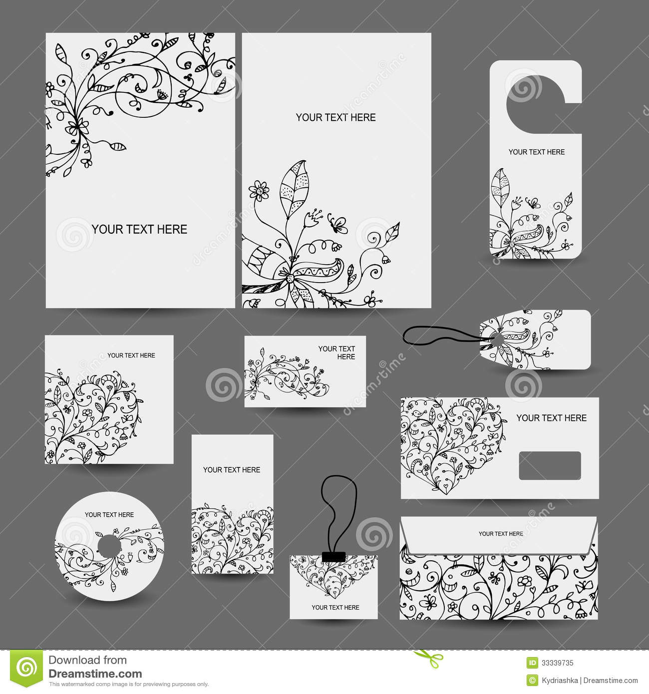 How To Make Covered Files: Corporate Business Style Design: Folder, Labels, Stock